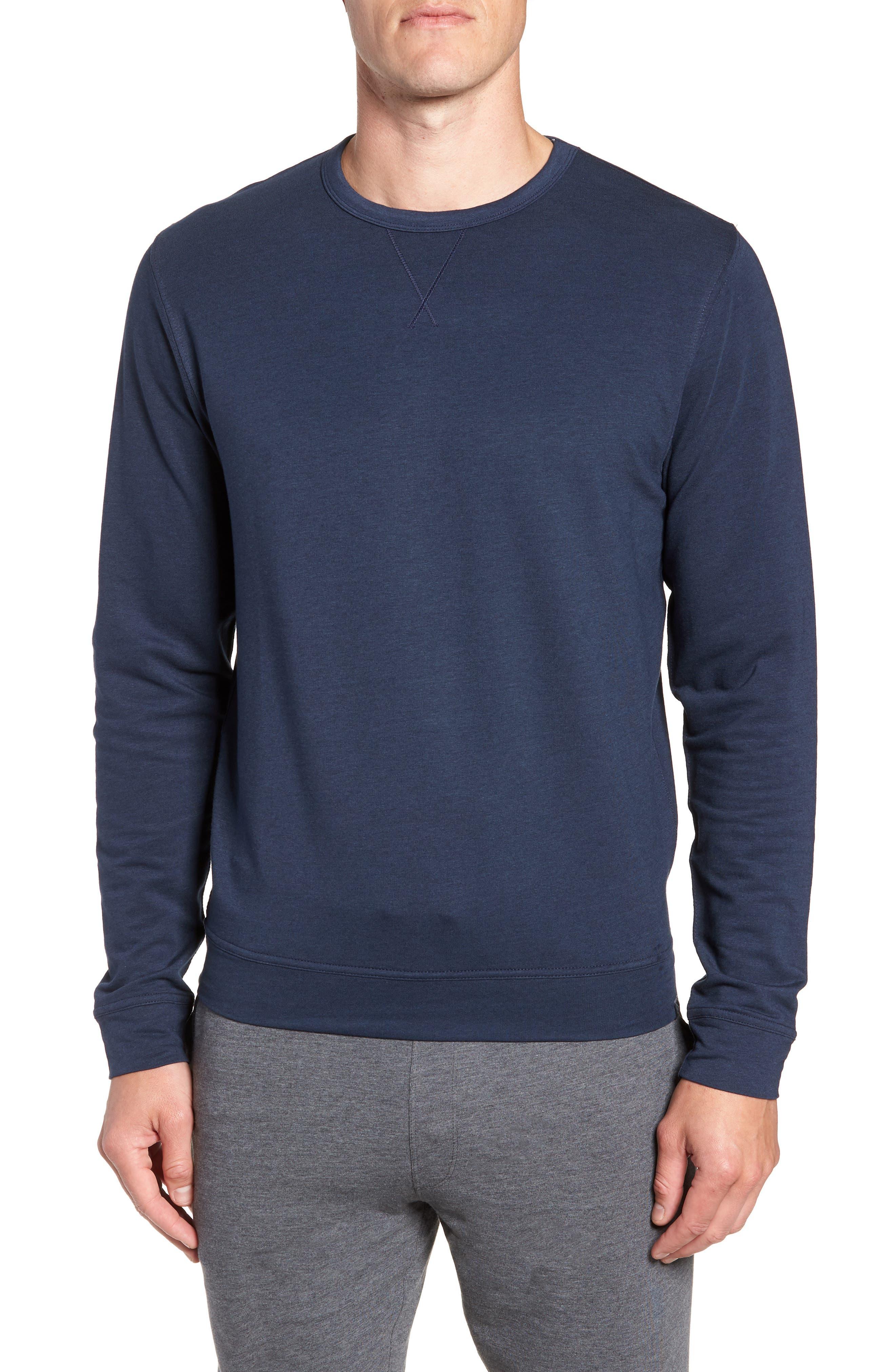 TASC PERFORMANCE, Legacy Crewneck Semi Fitted Sweatshirt, Main thumbnail 1, color, CLASSIC NAVY