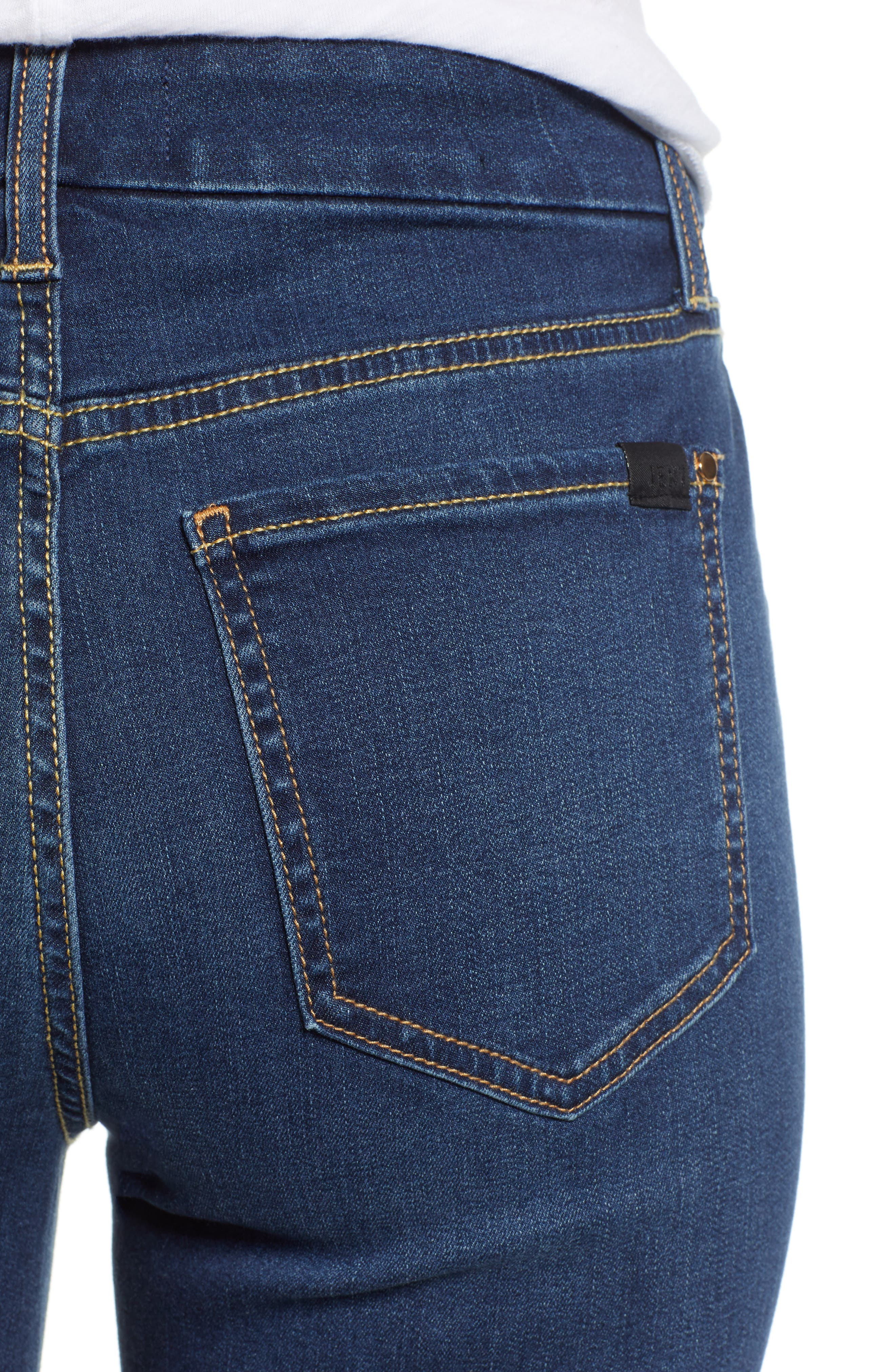 JEN7 BY 7 FOR ALL MANKIND, Slim Bootcut Jeans, Alternate thumbnail 5, color, CLASSIC MEDIUM BLUE