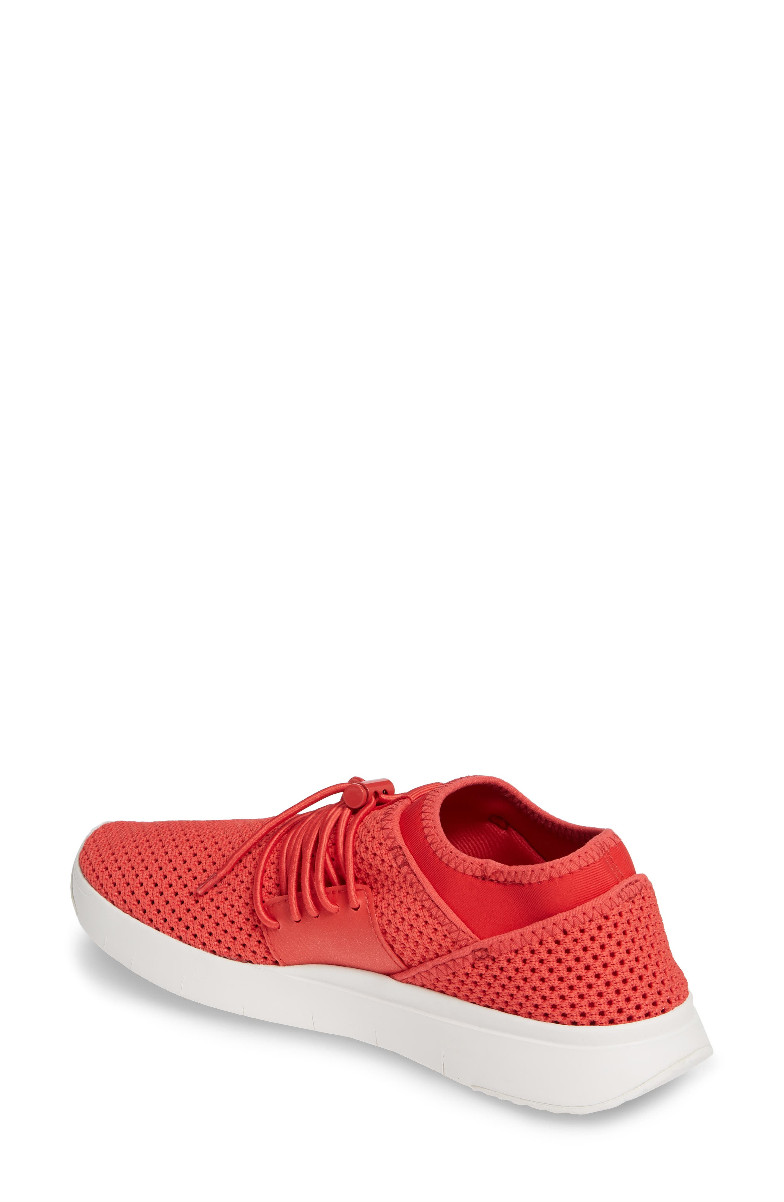 FITFLOP, Airmesh Sneaker, Alternate thumbnail 2, color, PASSION RED