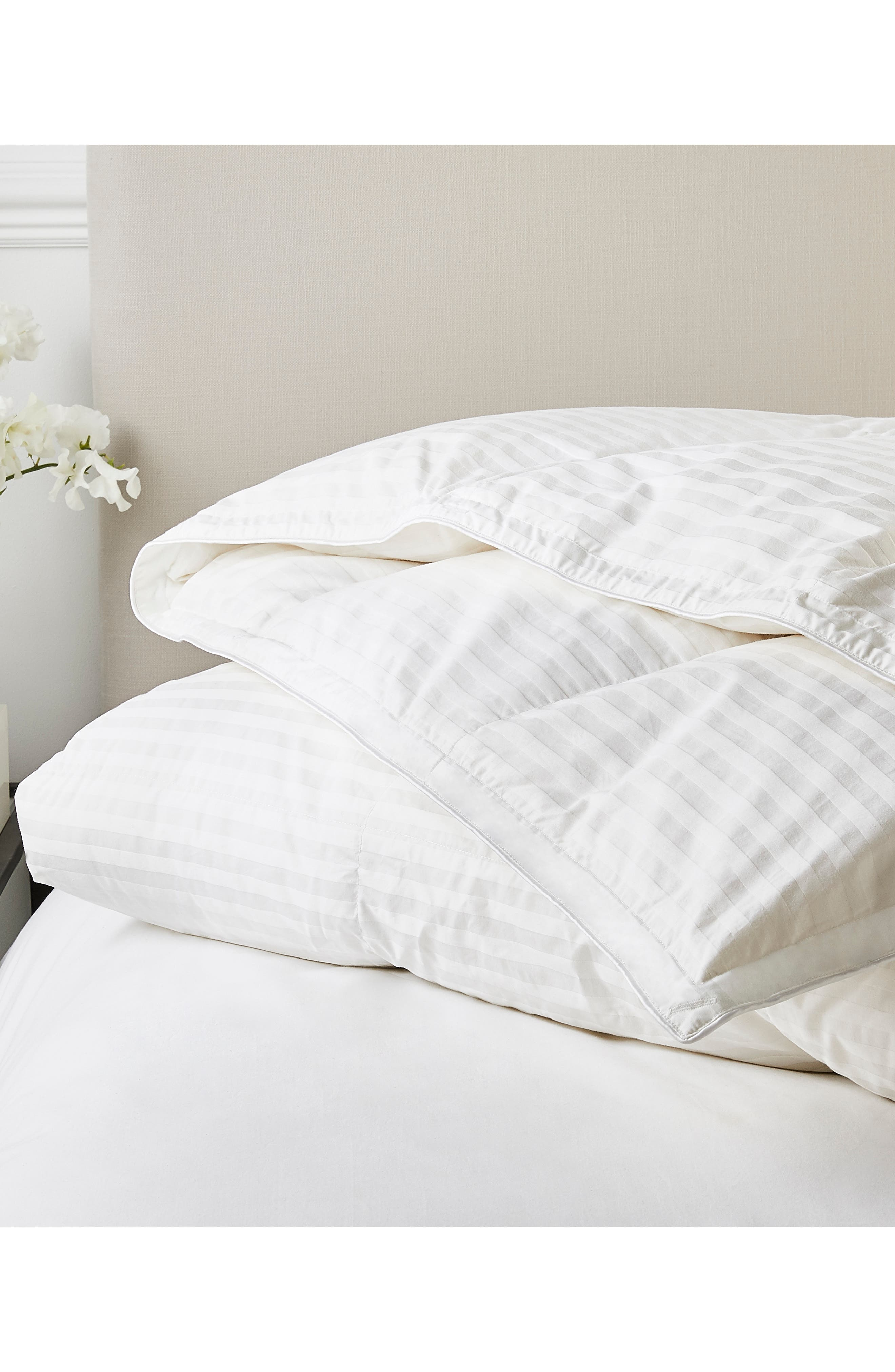 THE WHITE COMPANY, Light Warmth Hungarian Goose Down Comforter, Main thumbnail 1, color, IVORY