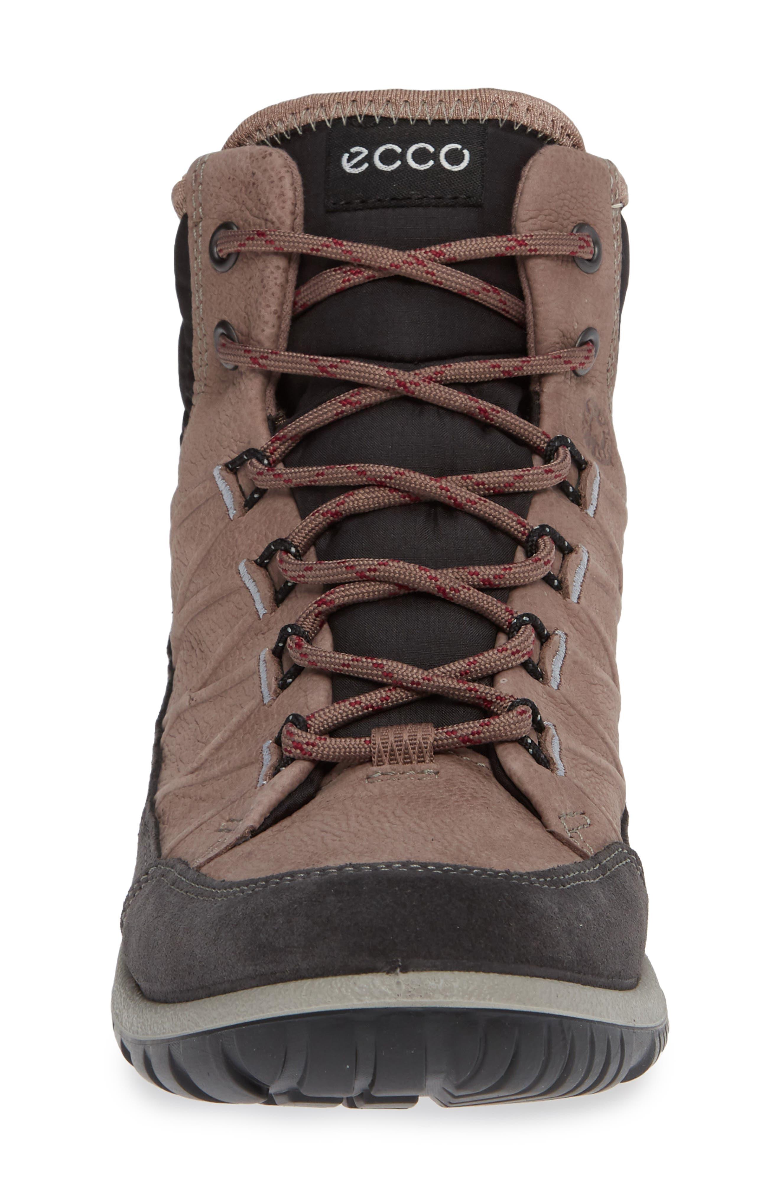 ECCO, 'Aspina GTX' Waterproof High Top Shoe, Alternate thumbnail 4, color, DEEP TAUPE NUBUCK LEATHER