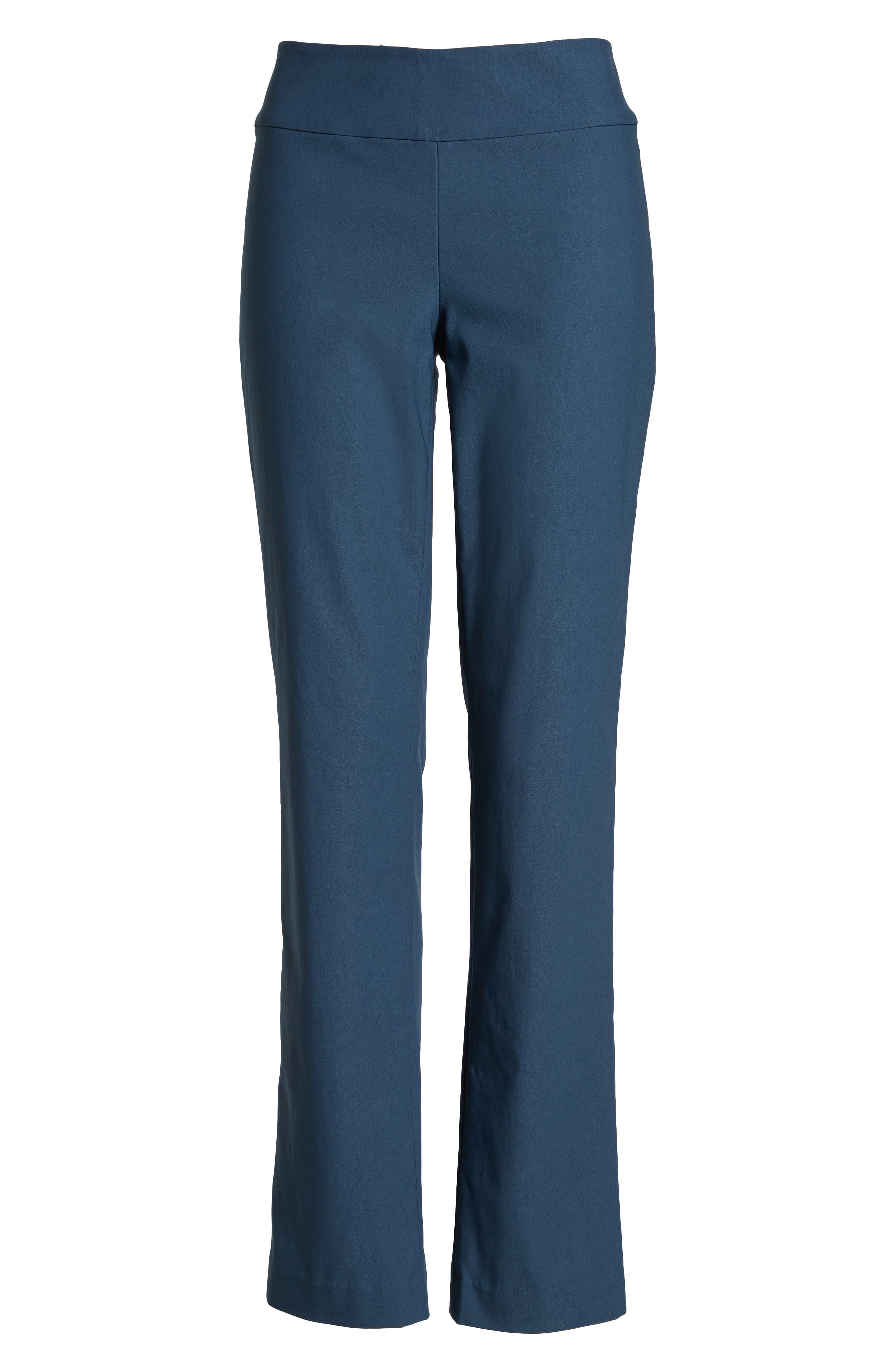 NIC+ZOE, Wonderstretch Straight Leg Pants, Alternate thumbnail 7, color, INDIGO SEA