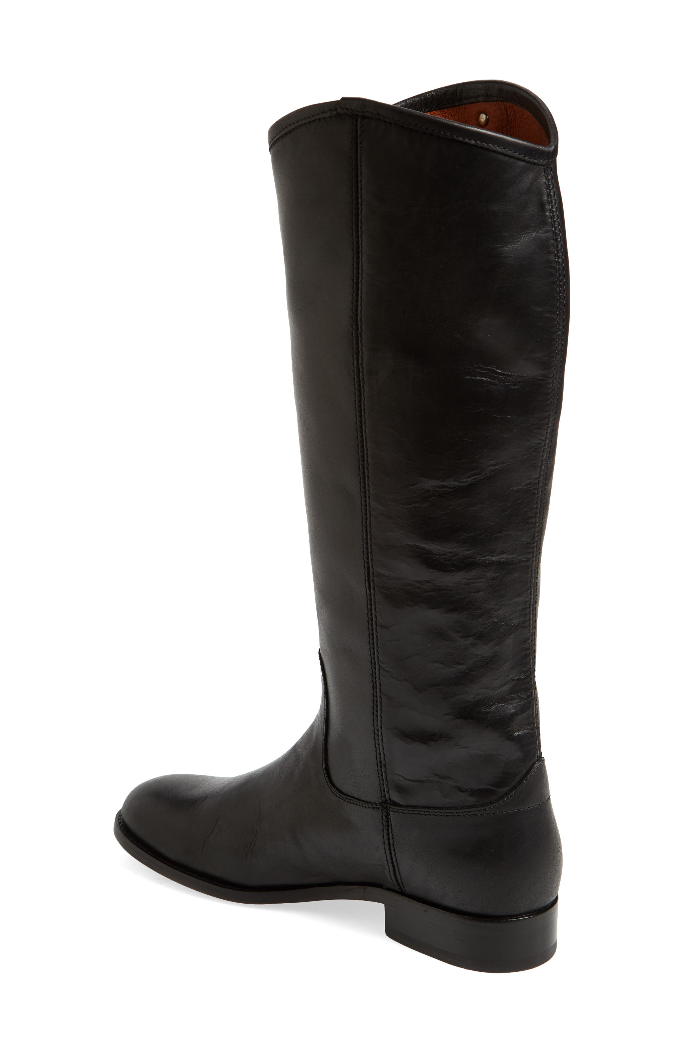 FRYE, Melissa Button 2 Knee High Boot, Alternate thumbnail 2, color, BLACK LEATHER