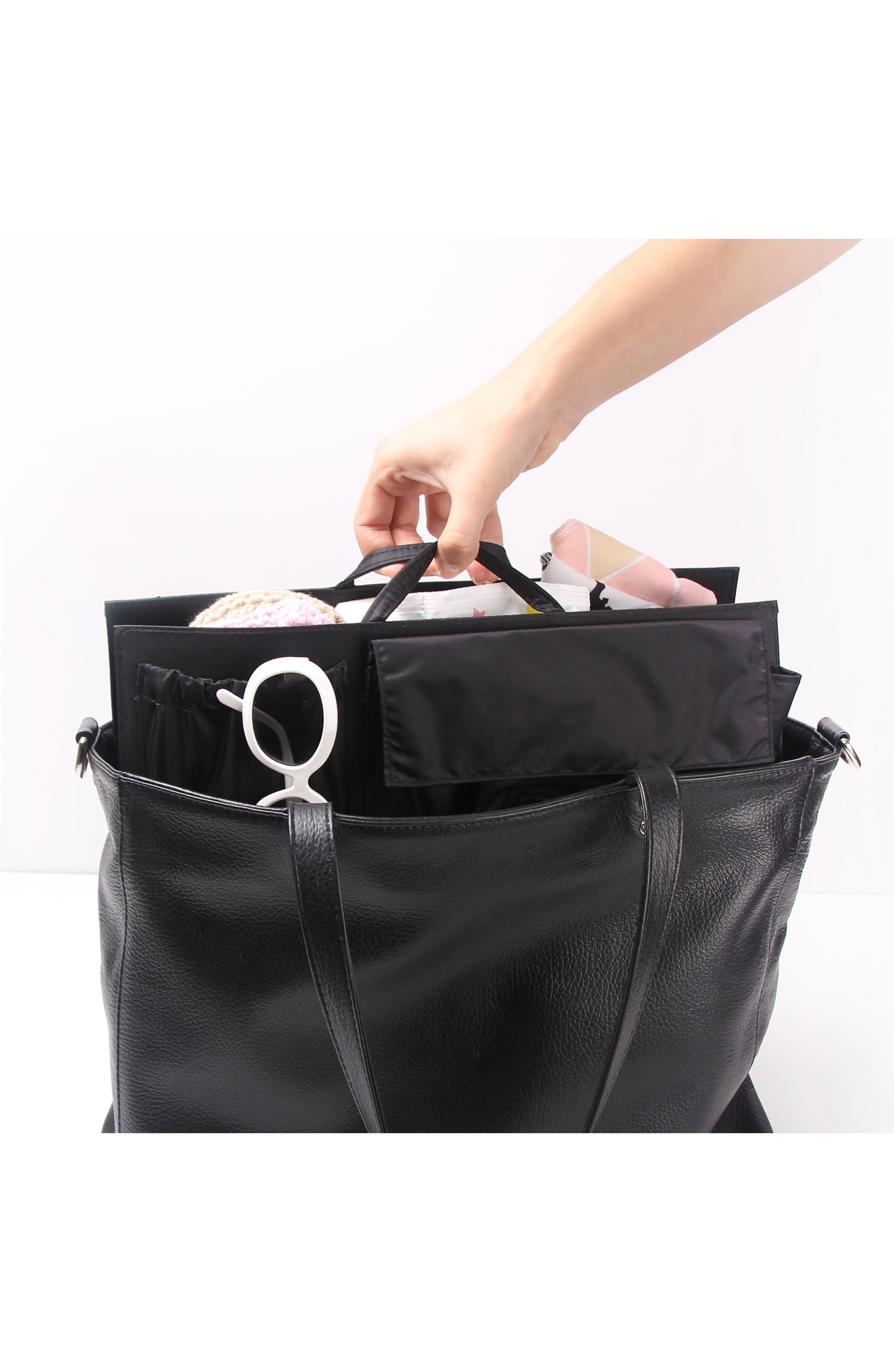 TOTESAVVY, Organization Handbag Insert, Alternate thumbnail 7, color, CLASSIC BLACK