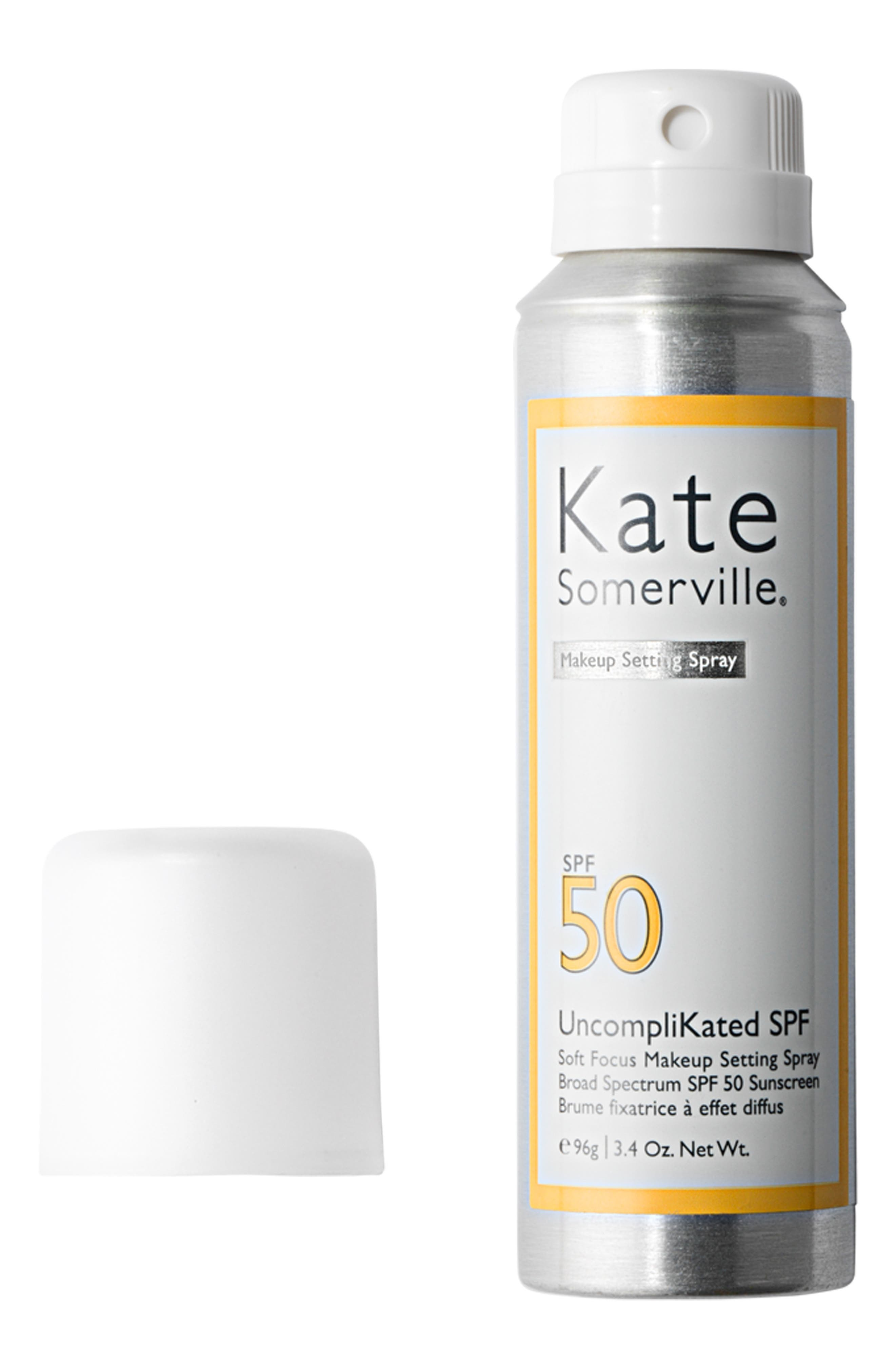 KATE SOMERVILLE<SUP>®</SUP>, UncompliKated SPF Makeup Setting Spray SPF 50, Alternate thumbnail 2, color, NO COLOR