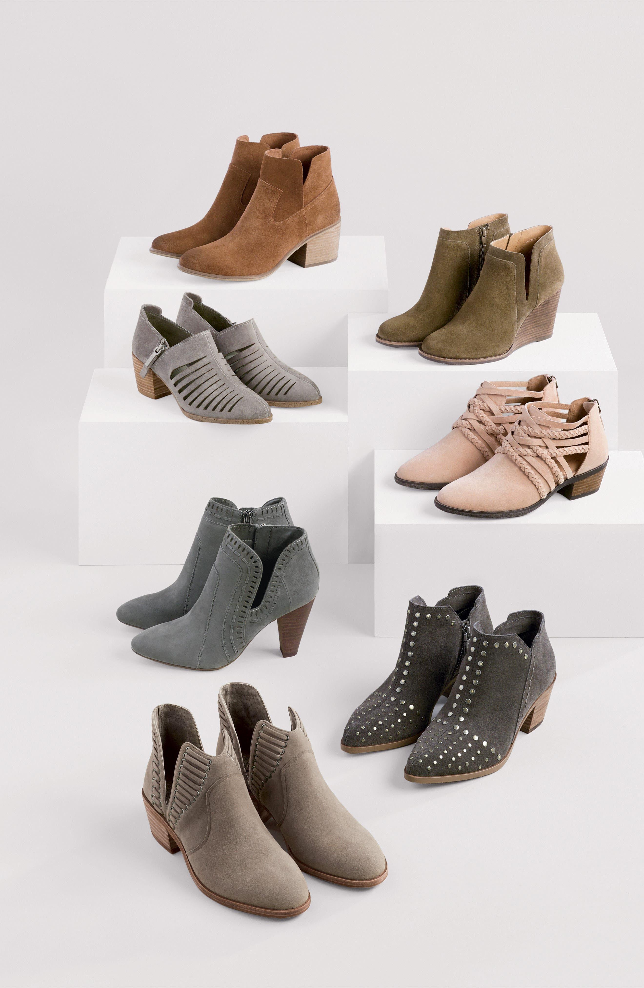 LUCKY BRAND, Yabba Wedge Bootie, Alternate thumbnail 9, color, STORM NUBUCK