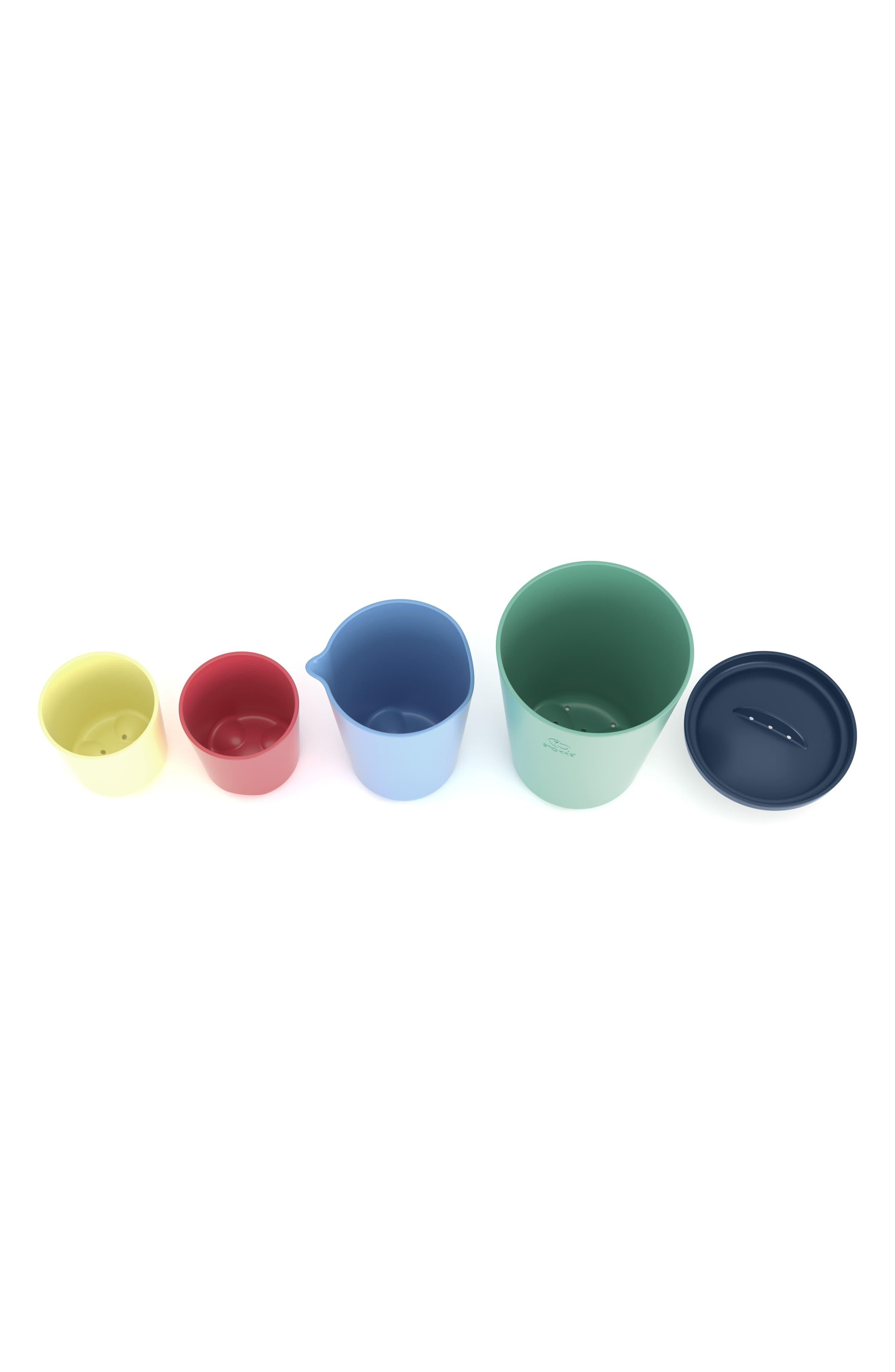 STOKKE, Flexi Bath<sup>®</sup> 5-Piece Toy Cups Set, Alternate thumbnail 3, color, 300