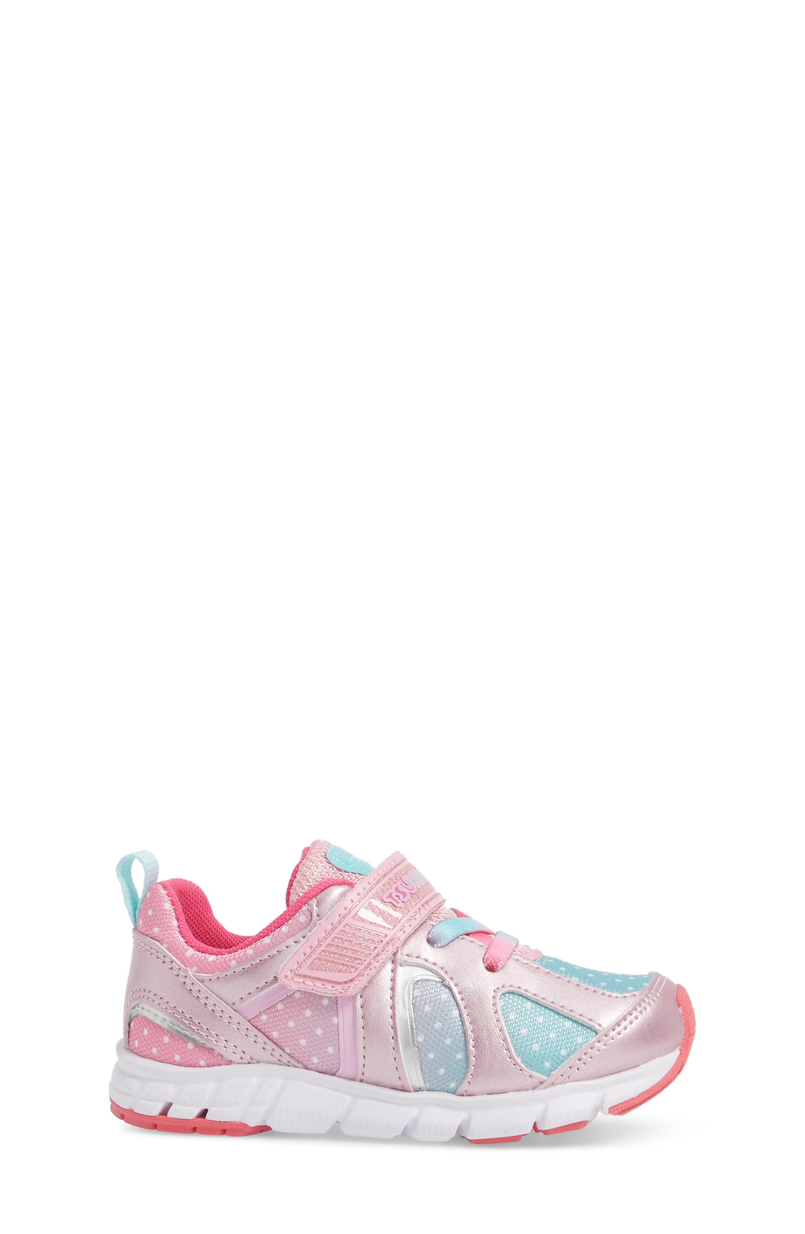 TSUKIHOSHI, Rainbow Washable Sneaker, Alternate thumbnail 3, color, ROSE/ MINT