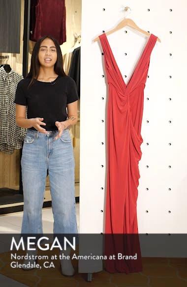 Leo Twist Front Evening Dress, sales video thumbnail