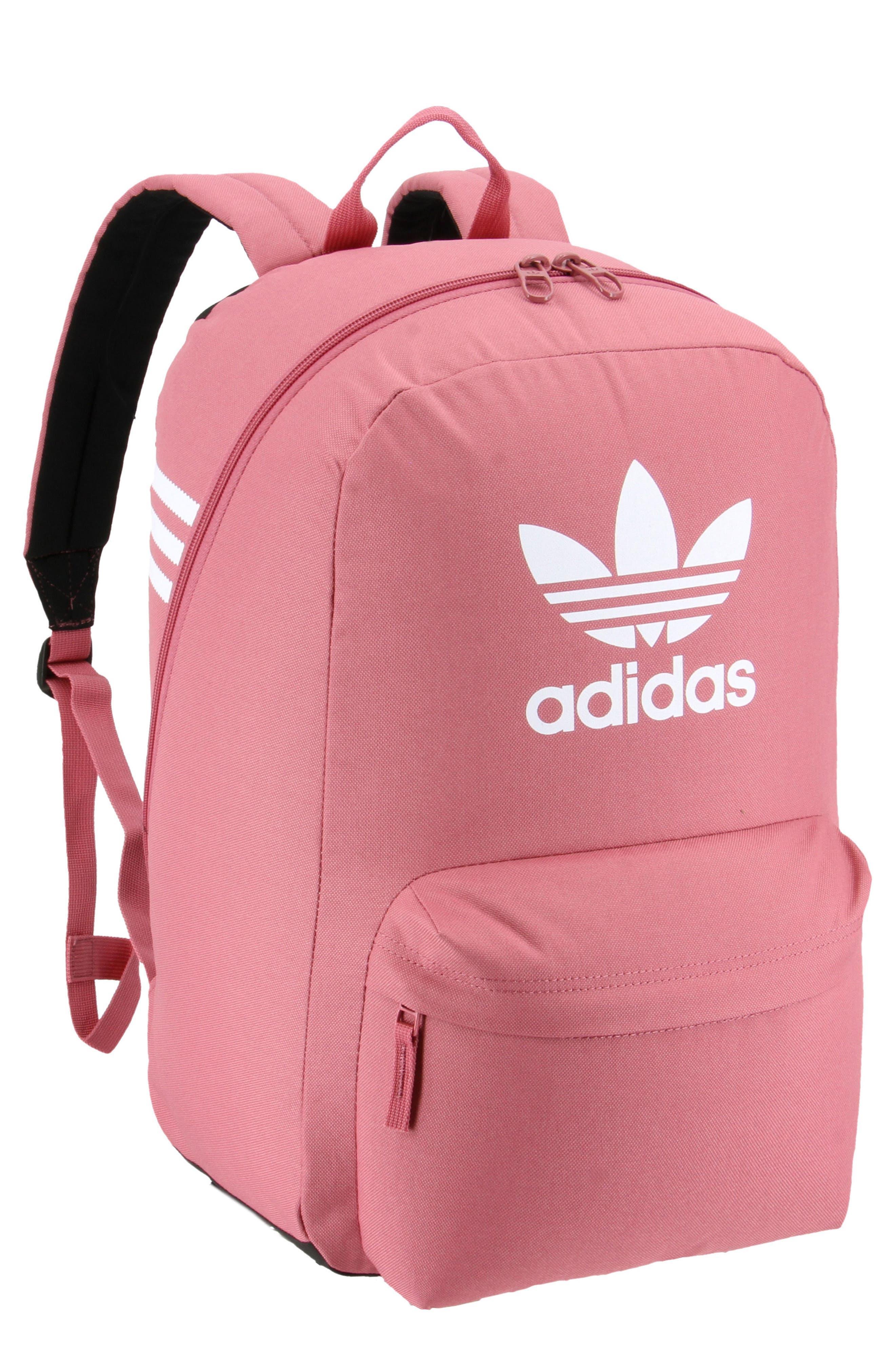 ADIDAS, Originals Big Logo Backpack, Main thumbnail 1, color, TRACE MAROON