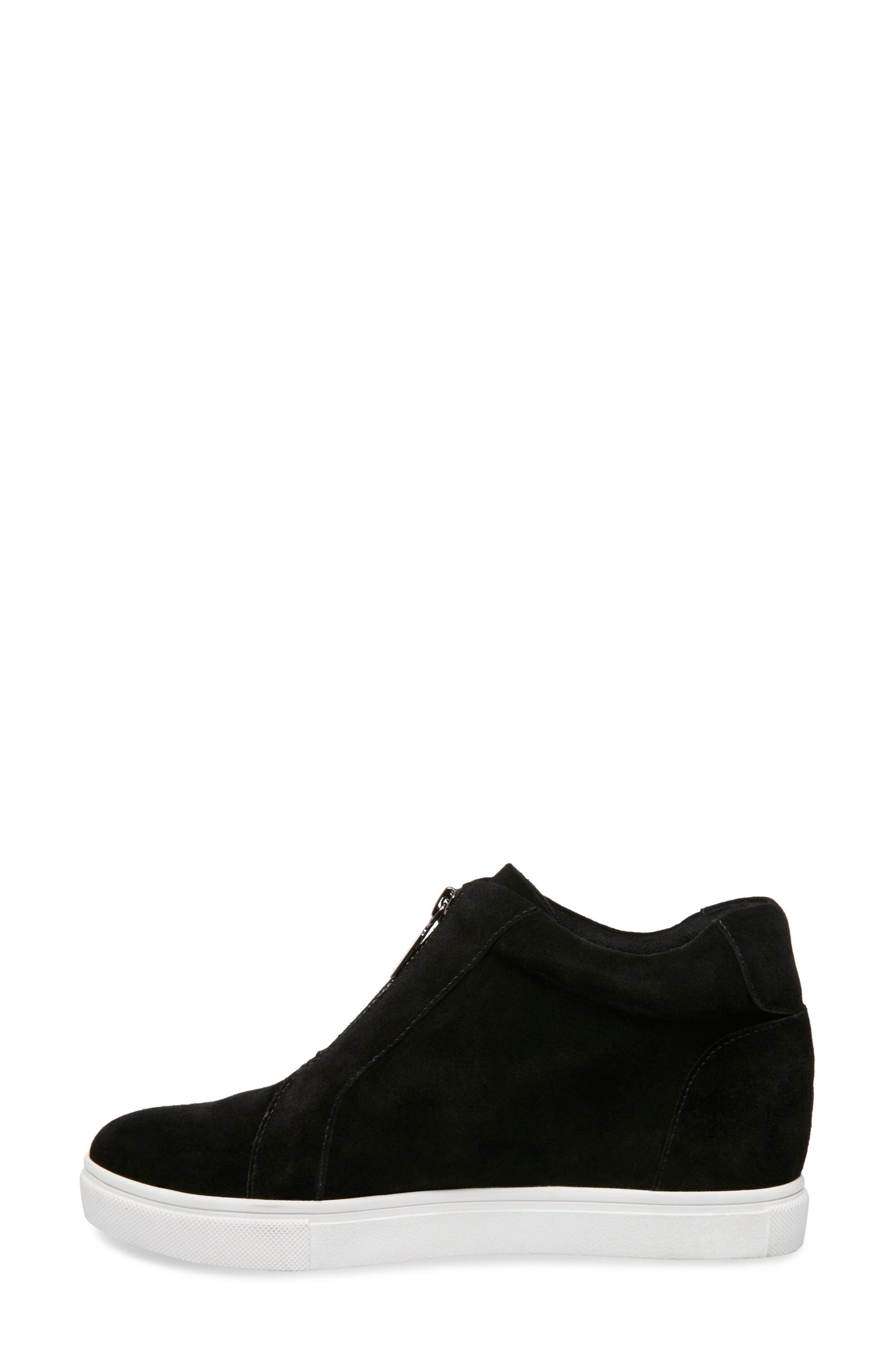 BLONDO, Glenda Waterproof Sneaker Bootie, Alternate thumbnail 2, color, BLACK SUEDE