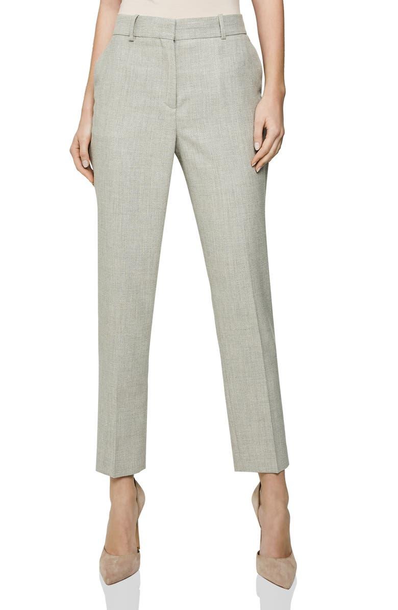 Reiss Suits HETTIE TEXTURED WOOL BLEND SUIT PANTS