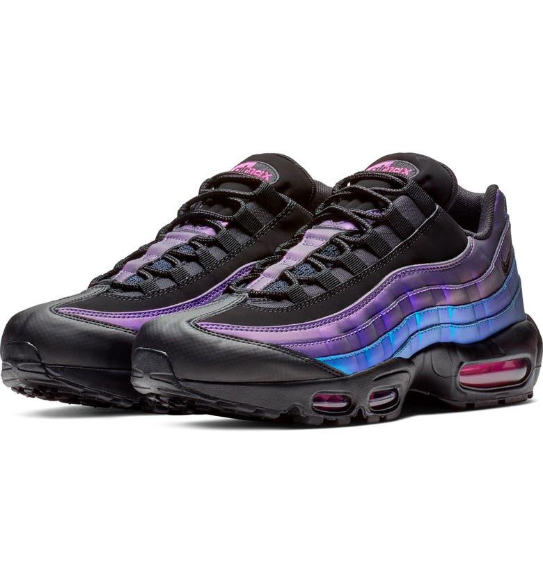 huge selection of 47333 b4e71 NIKE Air Max 95 Premium Sneaker, Main, color, BLACK  BLACK  LASER