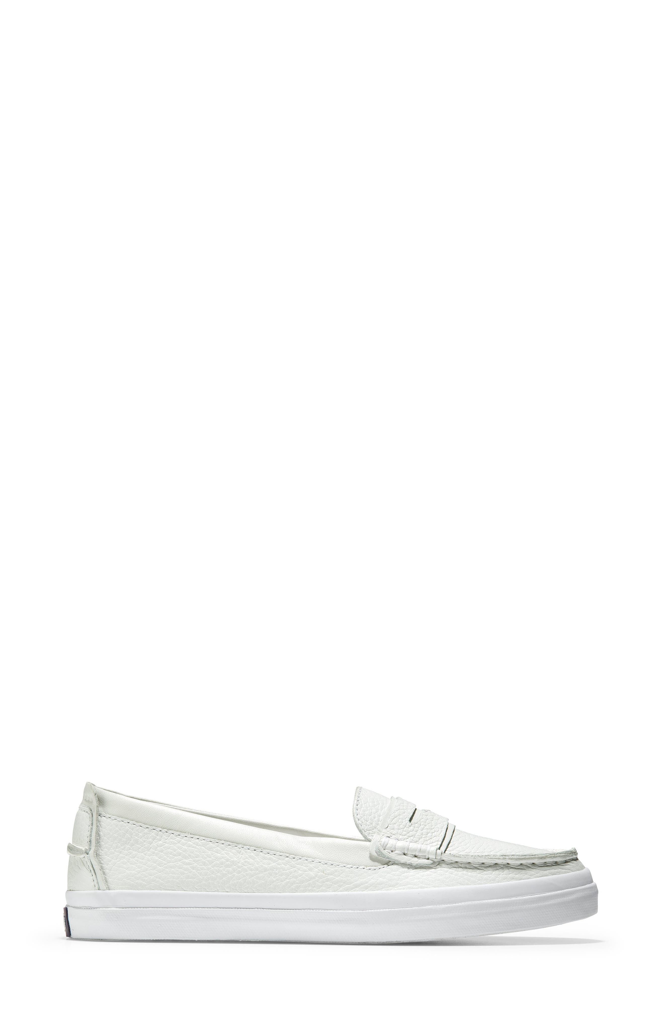 COLE HAAN, Pinch LX Loafer, Alternate thumbnail 3, color, OPTIC WHITE LEATHER