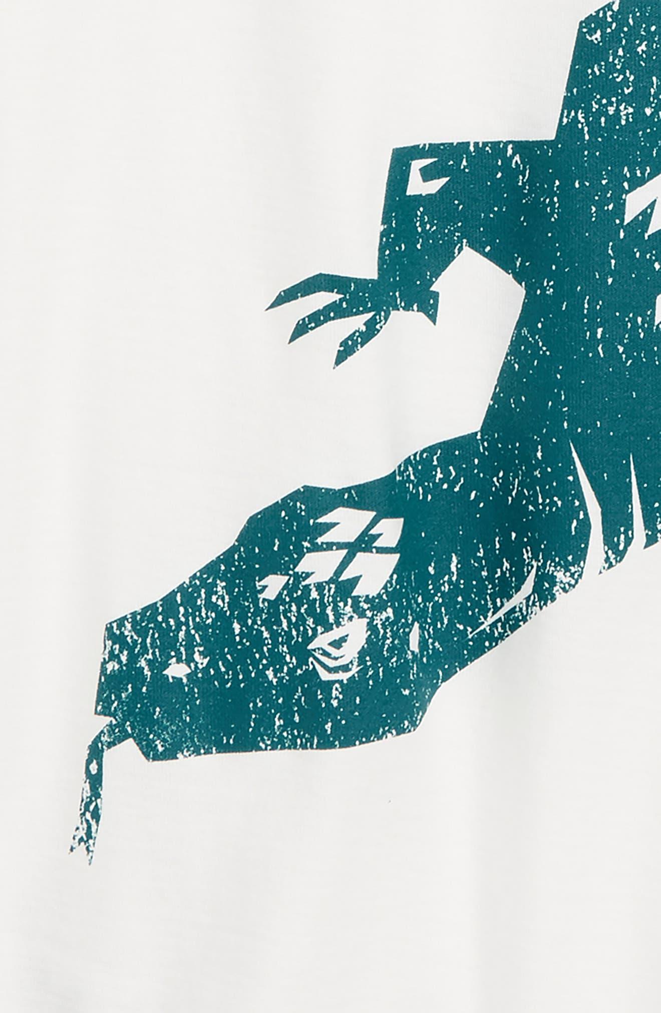 TEA COLLECTION, Komodo Graphic T-Shirt, Alternate thumbnail 2, color, PAPERWHITE