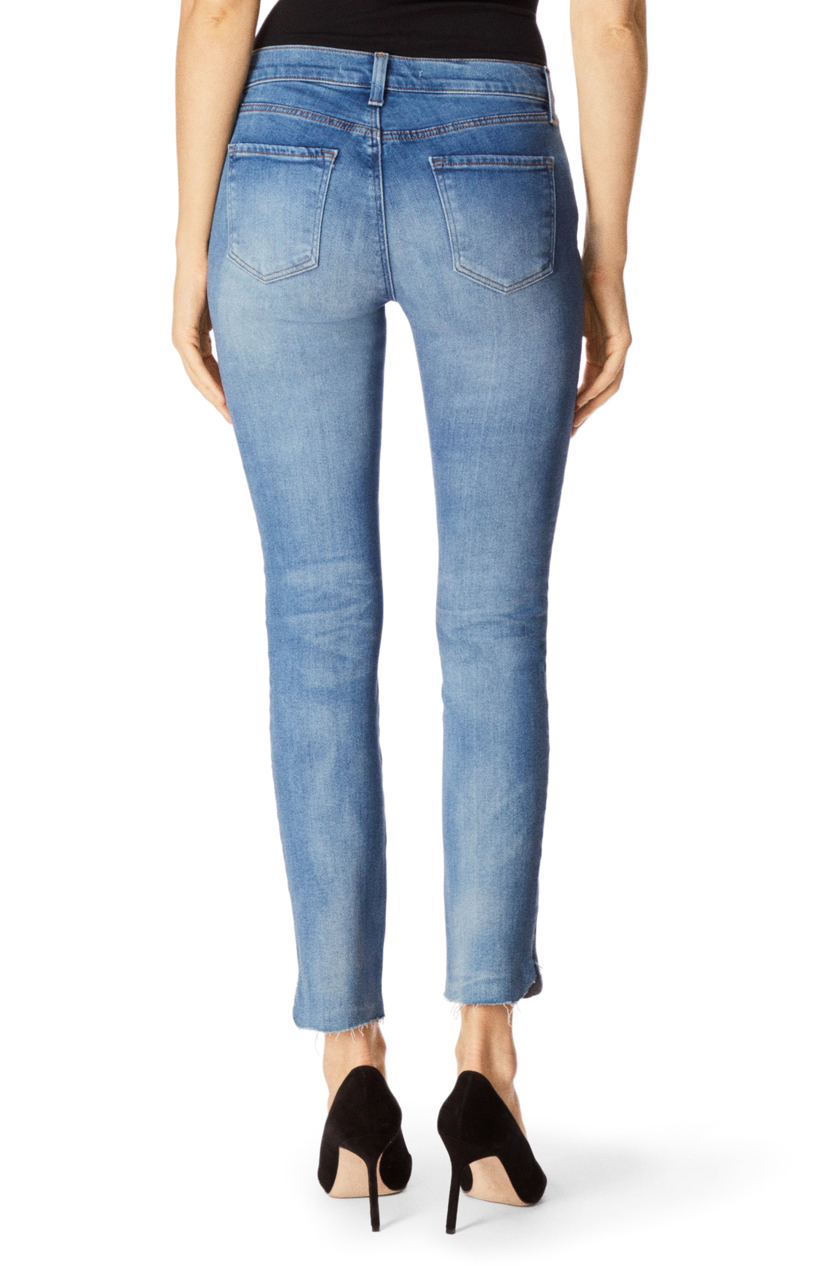 J BRAND, 811 Raw Hem Ankle Skinny Jeans, Alternate thumbnail 2, color, 400