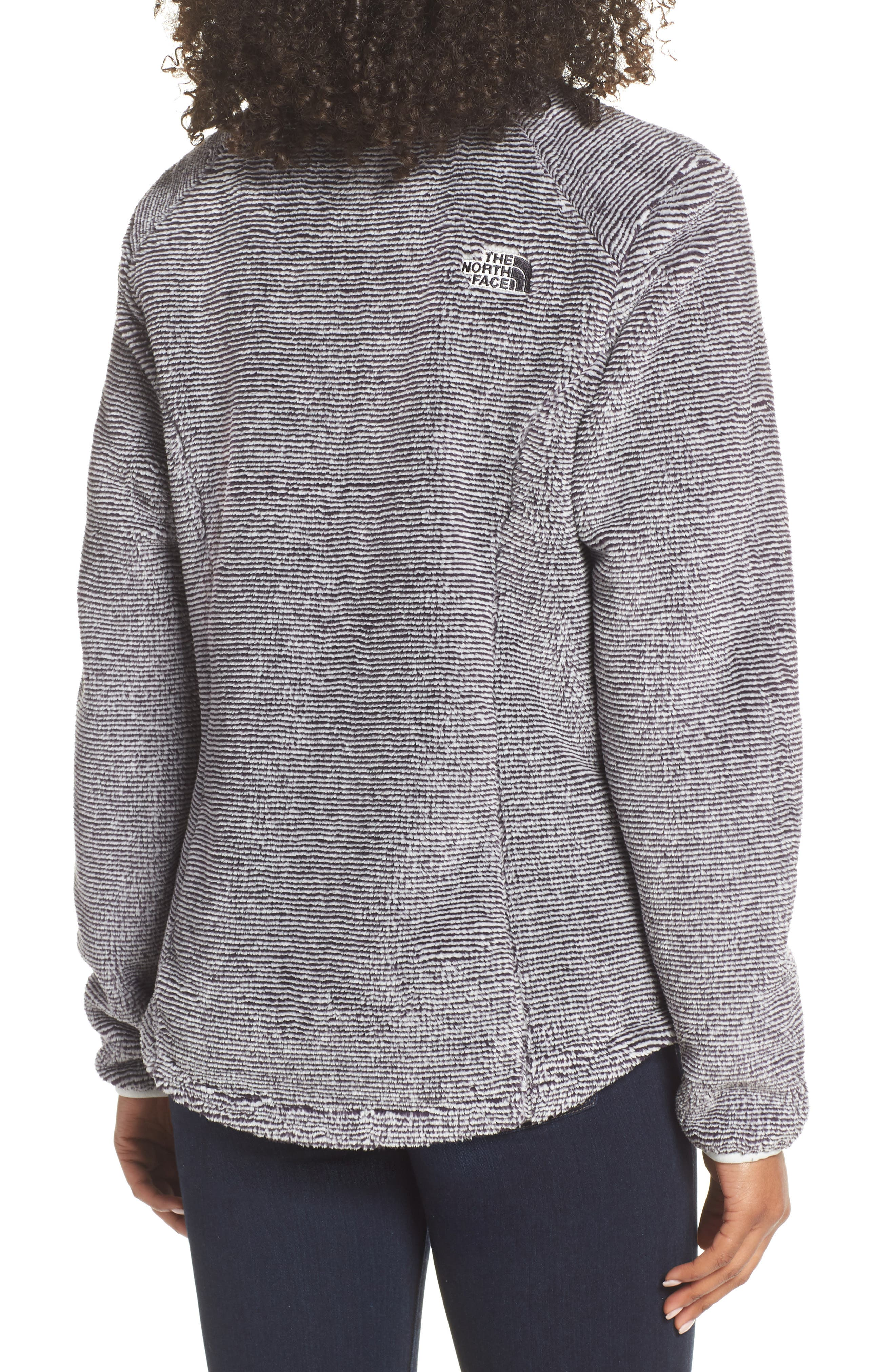 THE NORTH FACE, Osito 2 Stripe Fleece Jacket, Alternate thumbnail 2, color, BLACK/ TIN GREY STRIPE