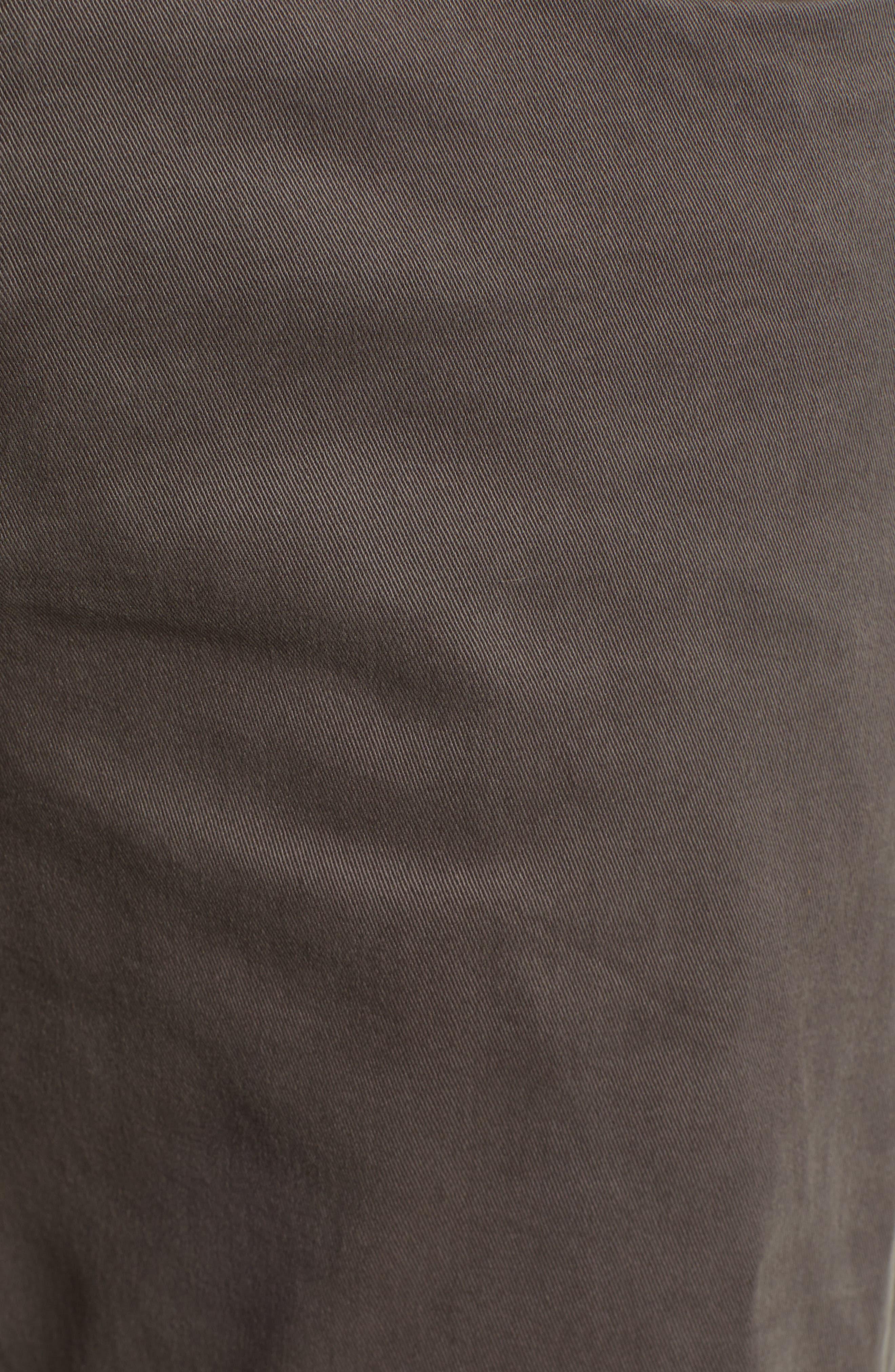 LIVERPOOL, Kingston Modern Straight Leg Twill Pants, Alternate thumbnail 5, color, OCEAN STORM