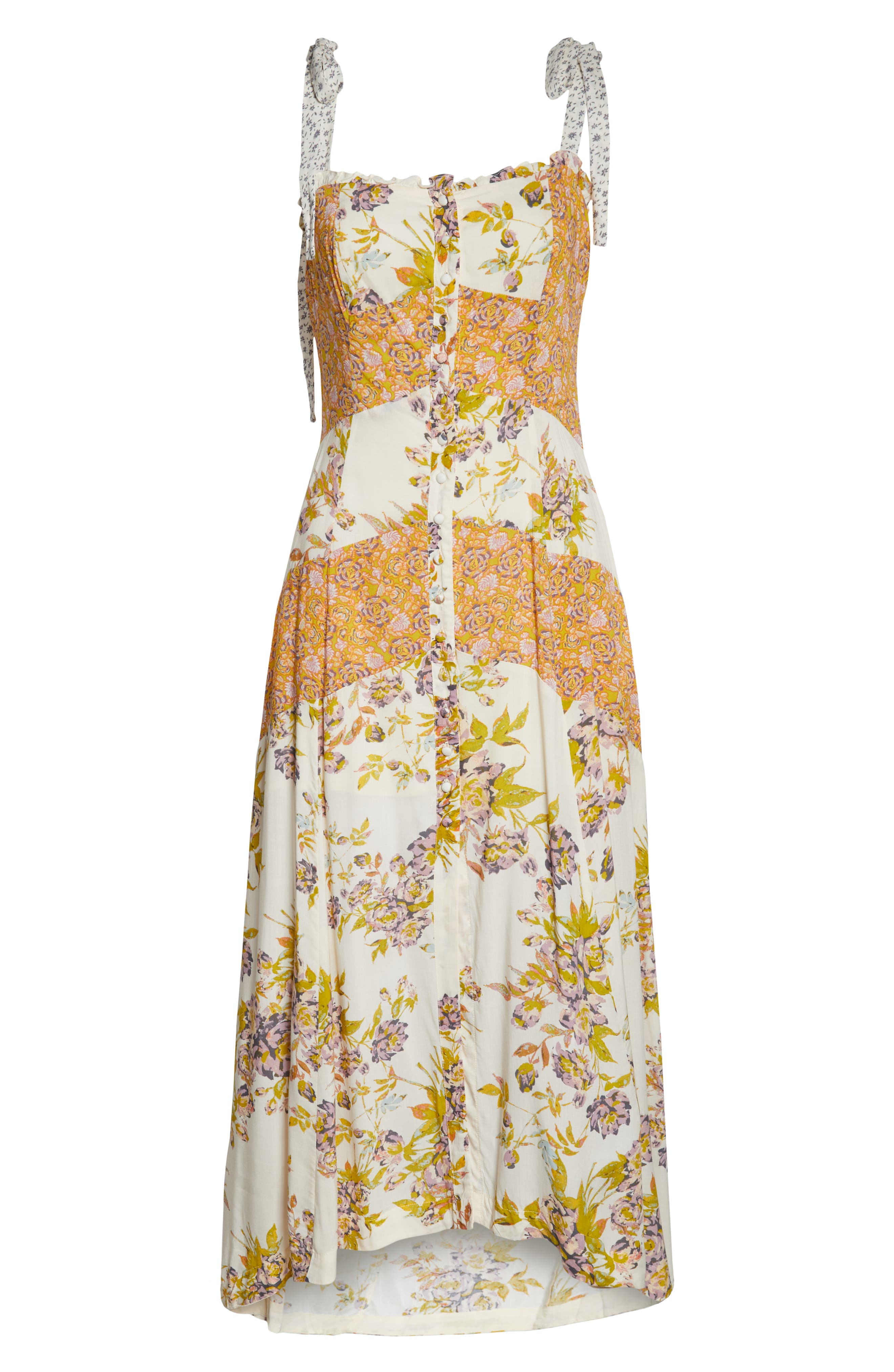 FREE PEOPLE, Lover Boy Maxi Dress, Alternate thumbnail 6, color, NEUTRAL COMBO