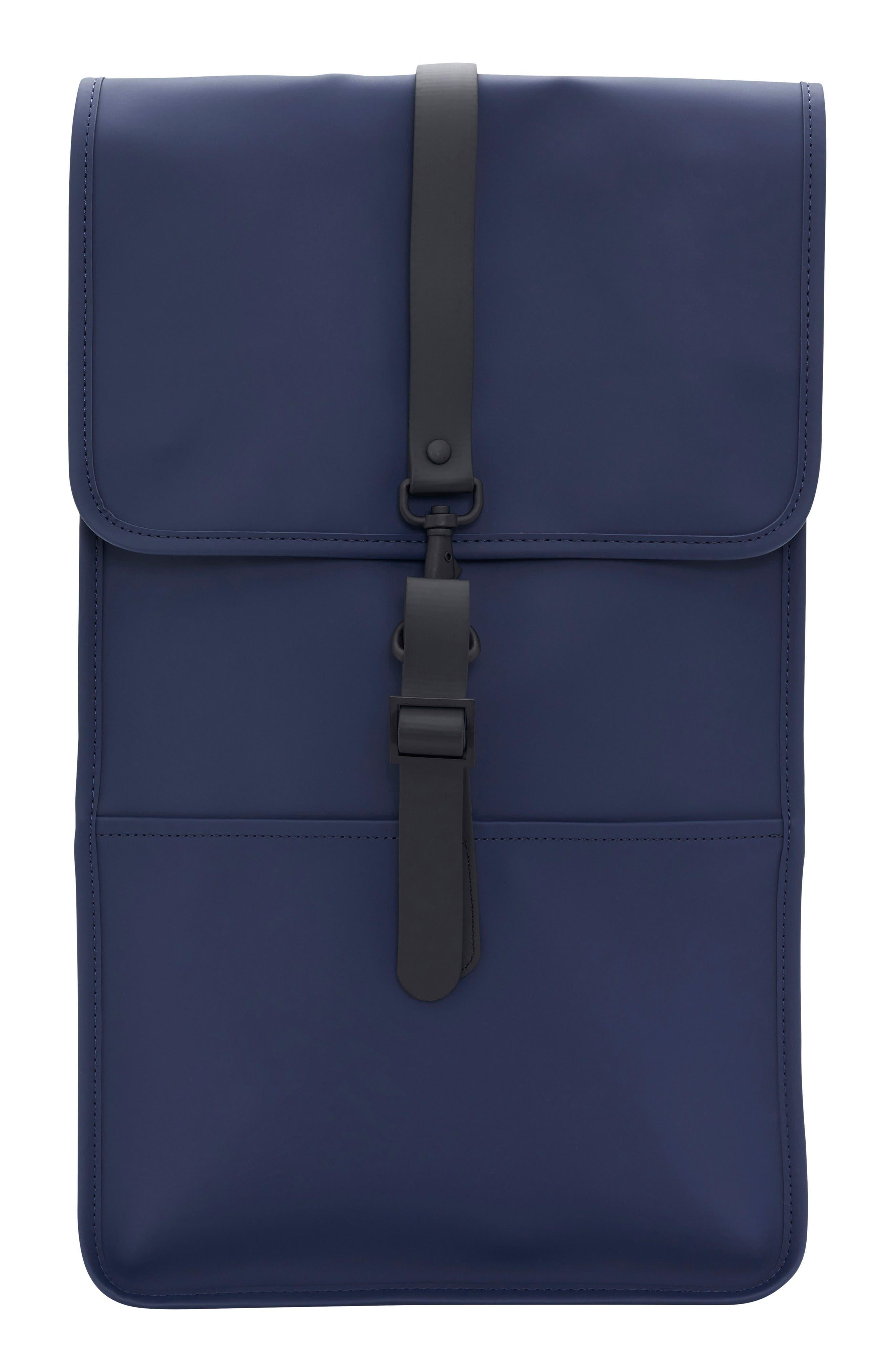 RAINS Waterproof Backpack, Main, color, BLUE