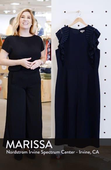 Pleat Shoulder Crop Jumpsuit, sales video thumbnail