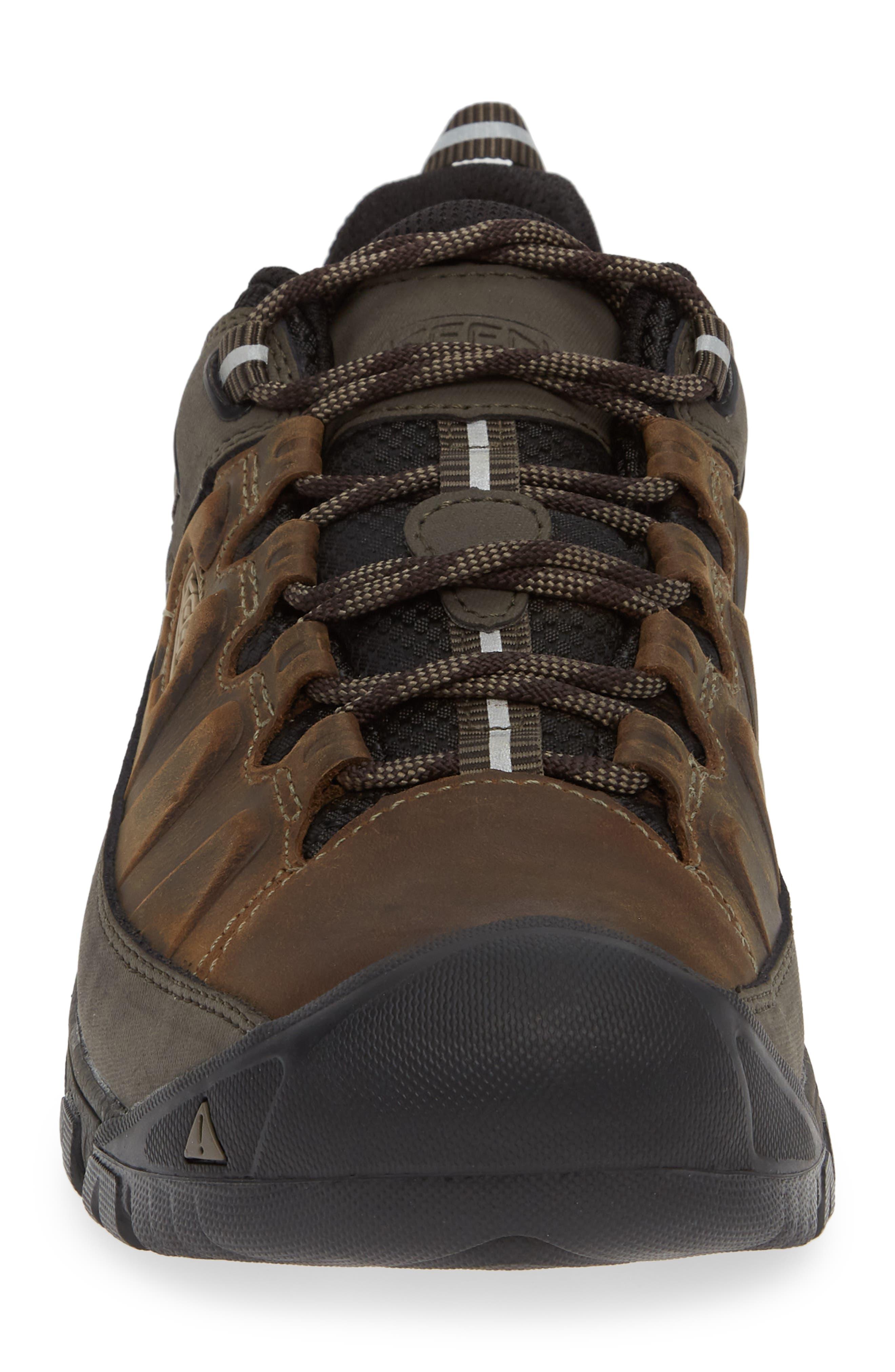 KEEN, Targhee III Waterproof Wide Hiking Shoe, Alternate thumbnail 4, color, BUNGEE CORD/ BLACK