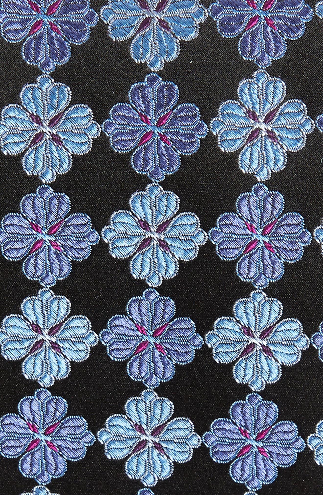 NORDSTROM MEN'S SHOP, Cole Floral Silk Tie, Alternate thumbnail 2, color, 002