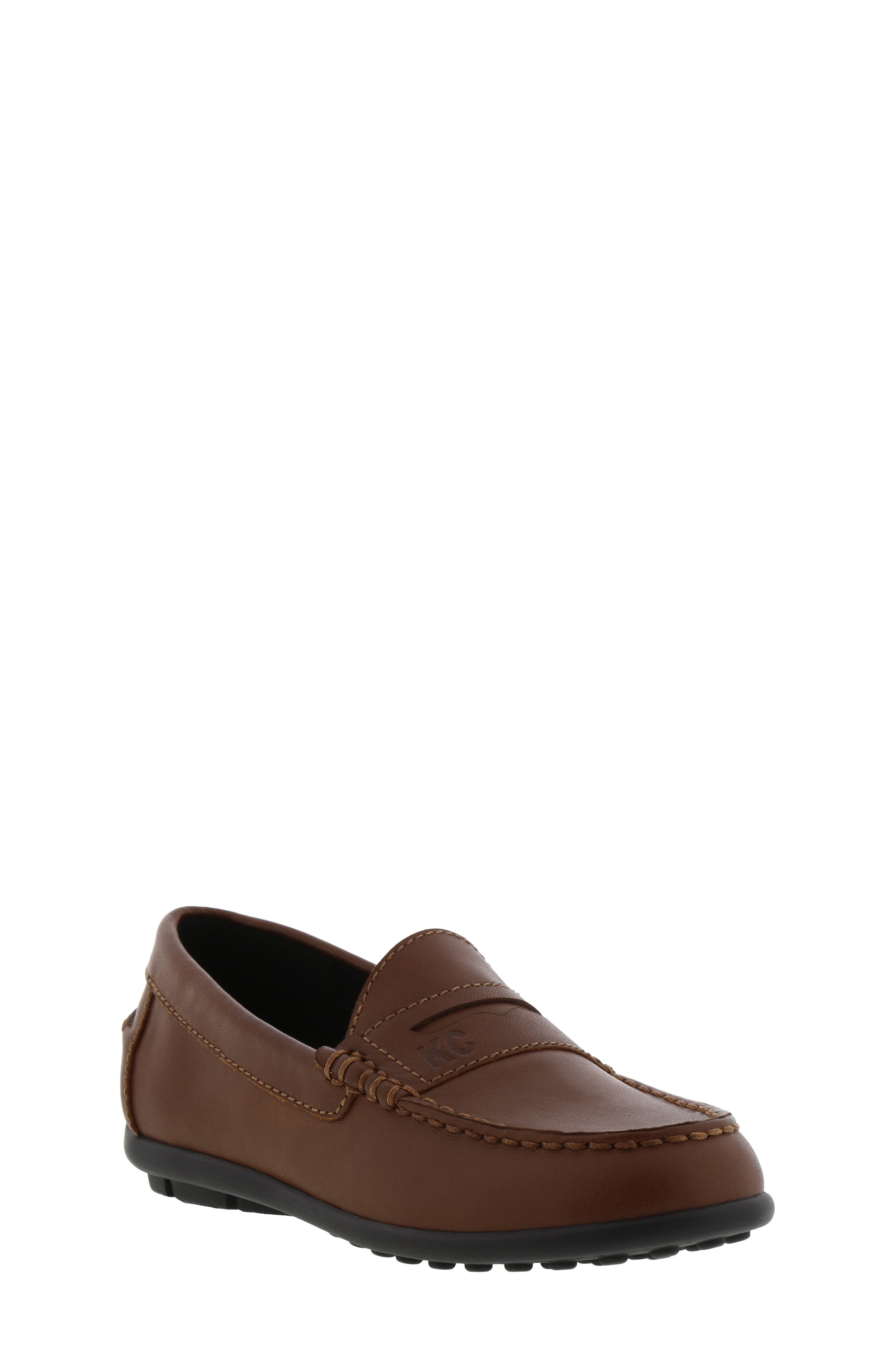 REACTION KENNETH COLE Helio Gear Loafer, Main, color, COGNAC
