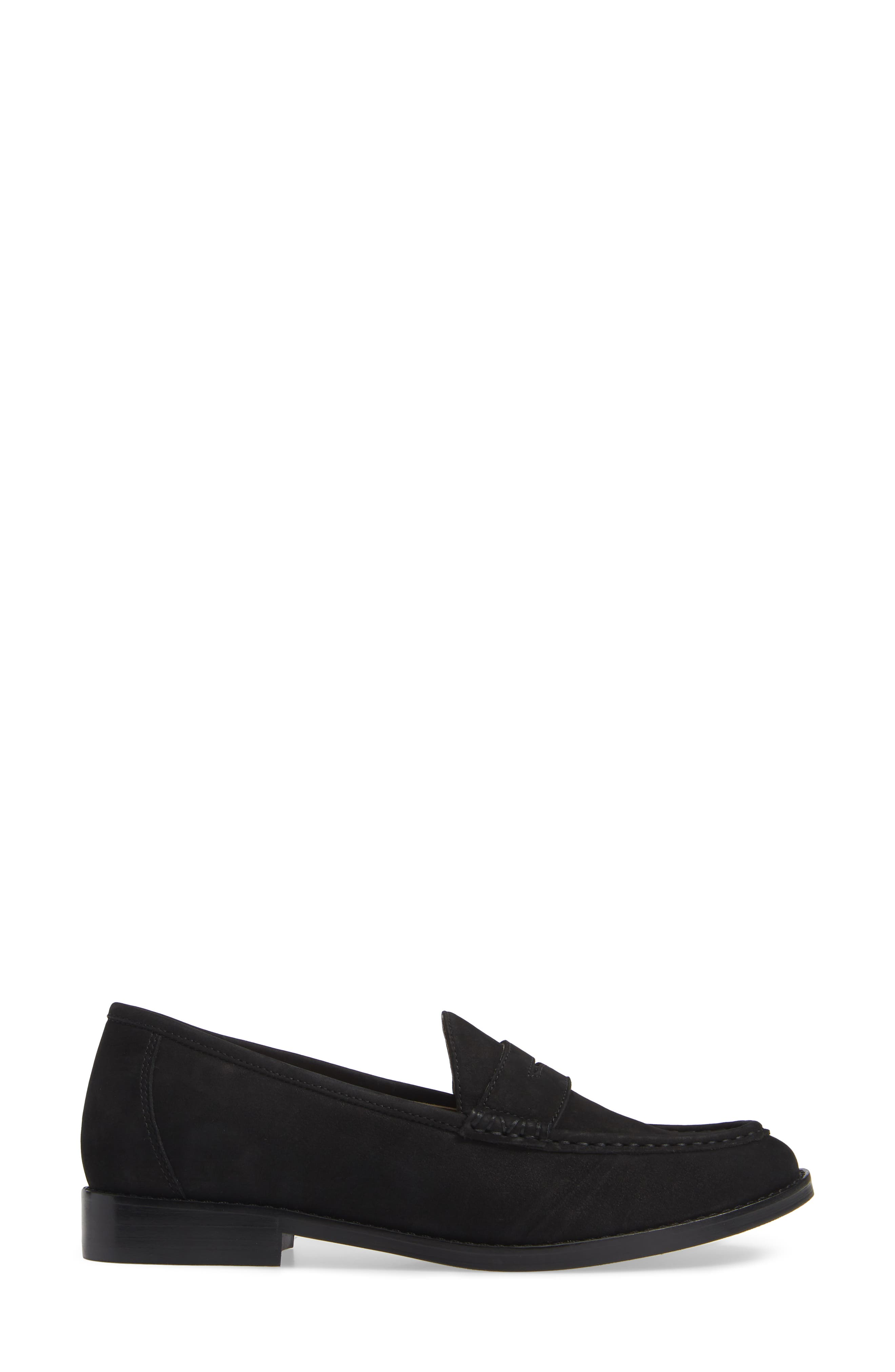 VIONIC, Waverly Loafer, Alternate thumbnail 3, color, BLACK LEATHER