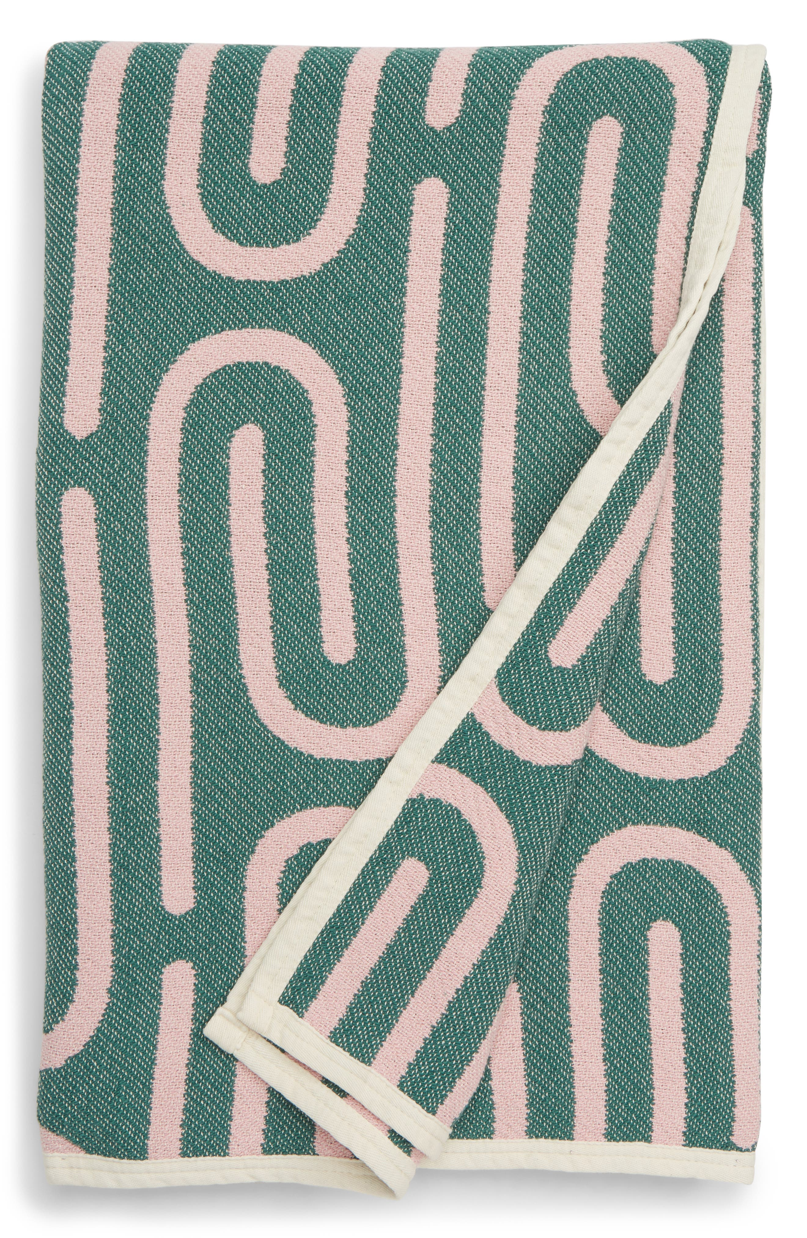 DUSEN DUSEN, Clip Throw Blanket, Main thumbnail 1, color, 100