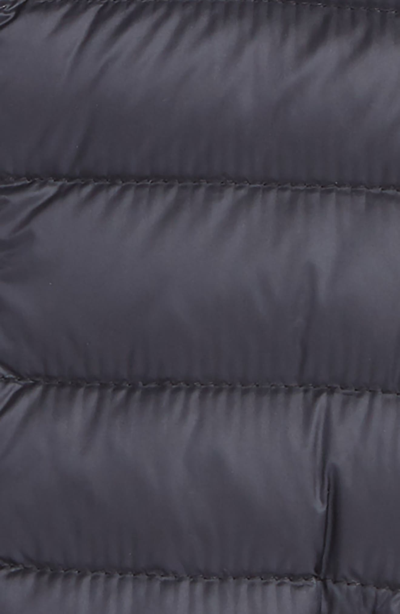 MONCLER, Acorus Channel Quilted Down Moto Jacket, Alternate thumbnail 2, color, NAVY