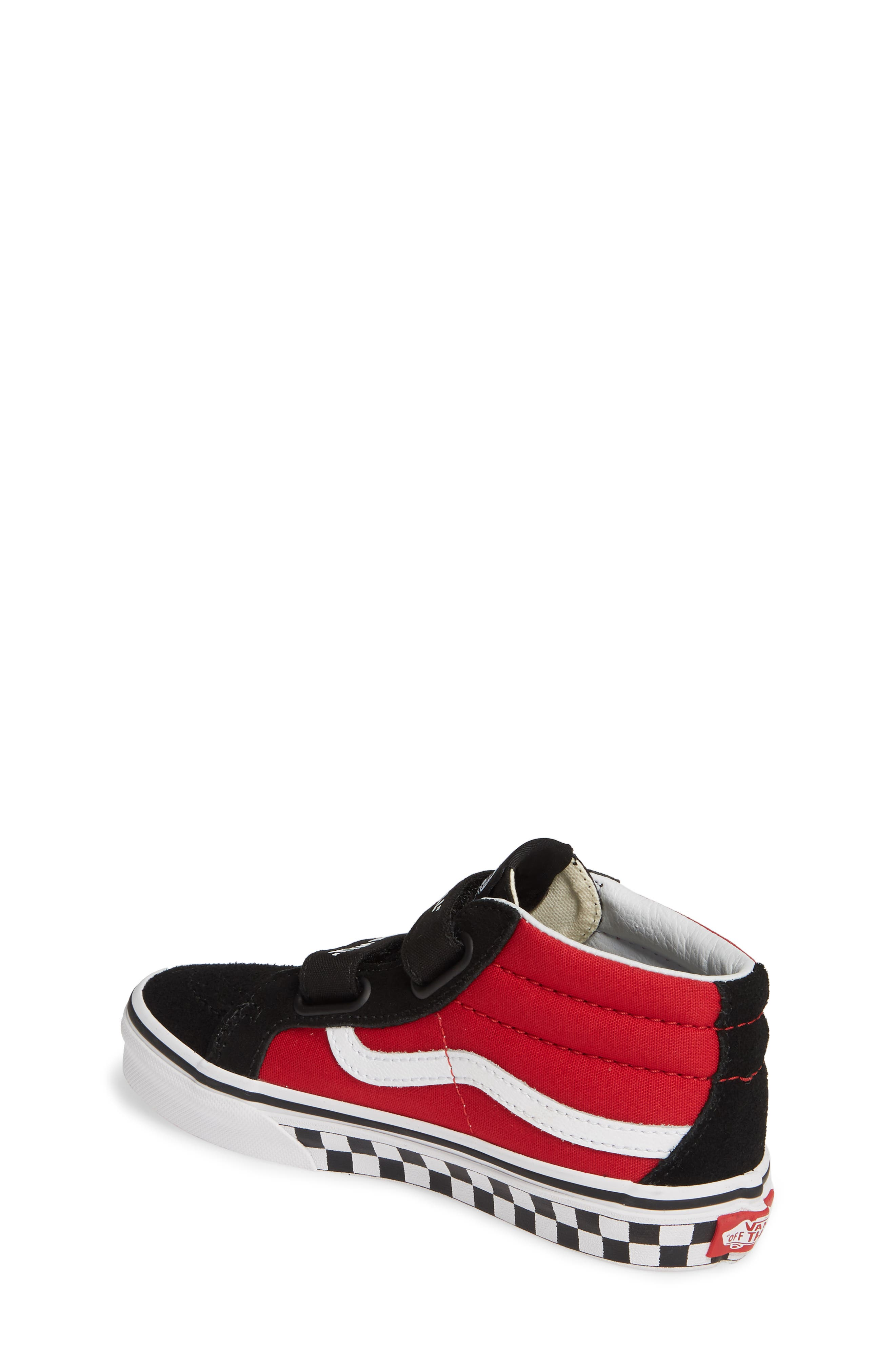 VANS, Sk8-Mid Reissue V Sneaker, Alternate thumbnail 2, color, LOGO POP BLACK/ TRUE WHITE