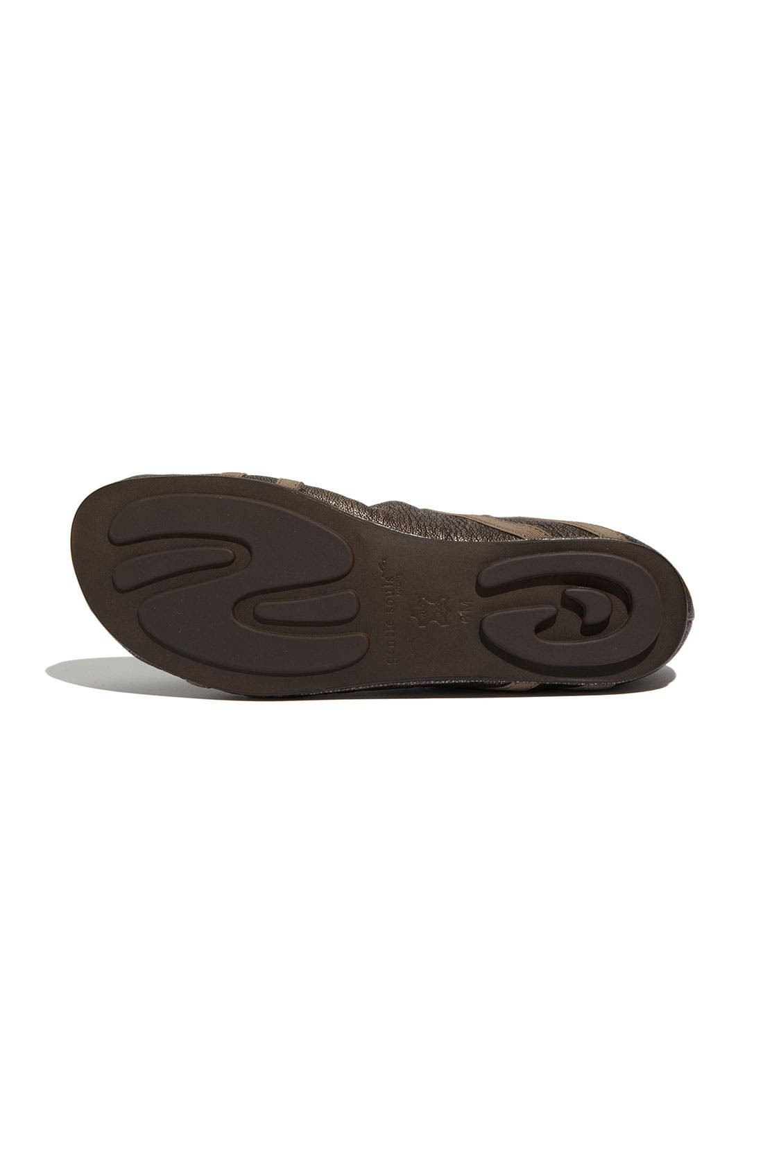 GENTLE SOULS BY KENNETH COLE, 'Bay Braid' Flat, Alternate thumbnail 4, color, ANTIQUE PEWTER
