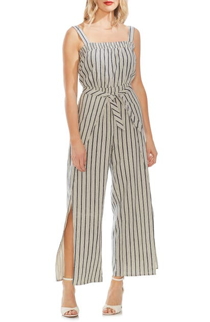 Vince Camuto Suits SUMMER STRIPE WRAP LEG JUMPSUIT