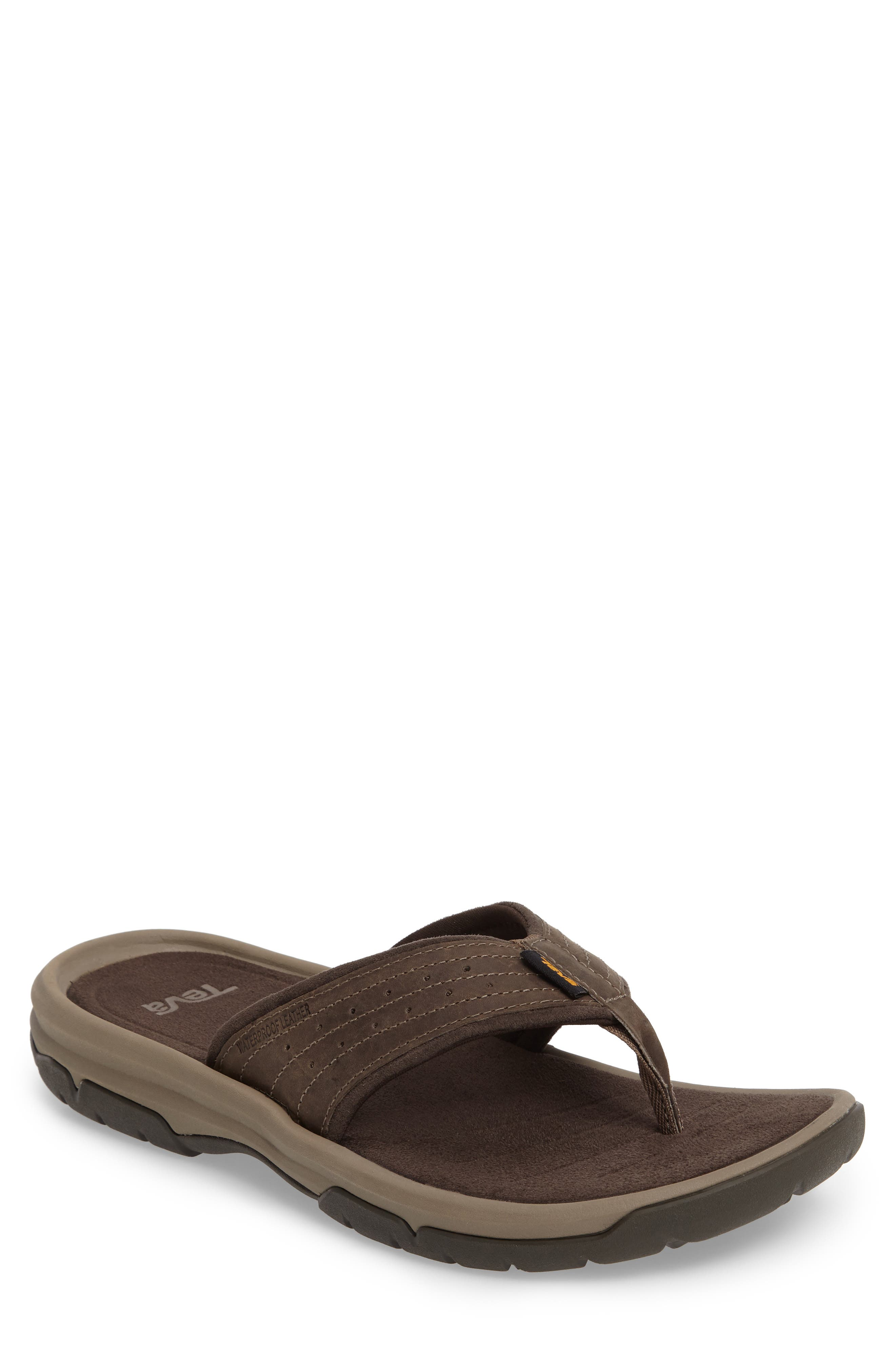 TEVA Langdon Flip Flop, Main, color, WALNUT