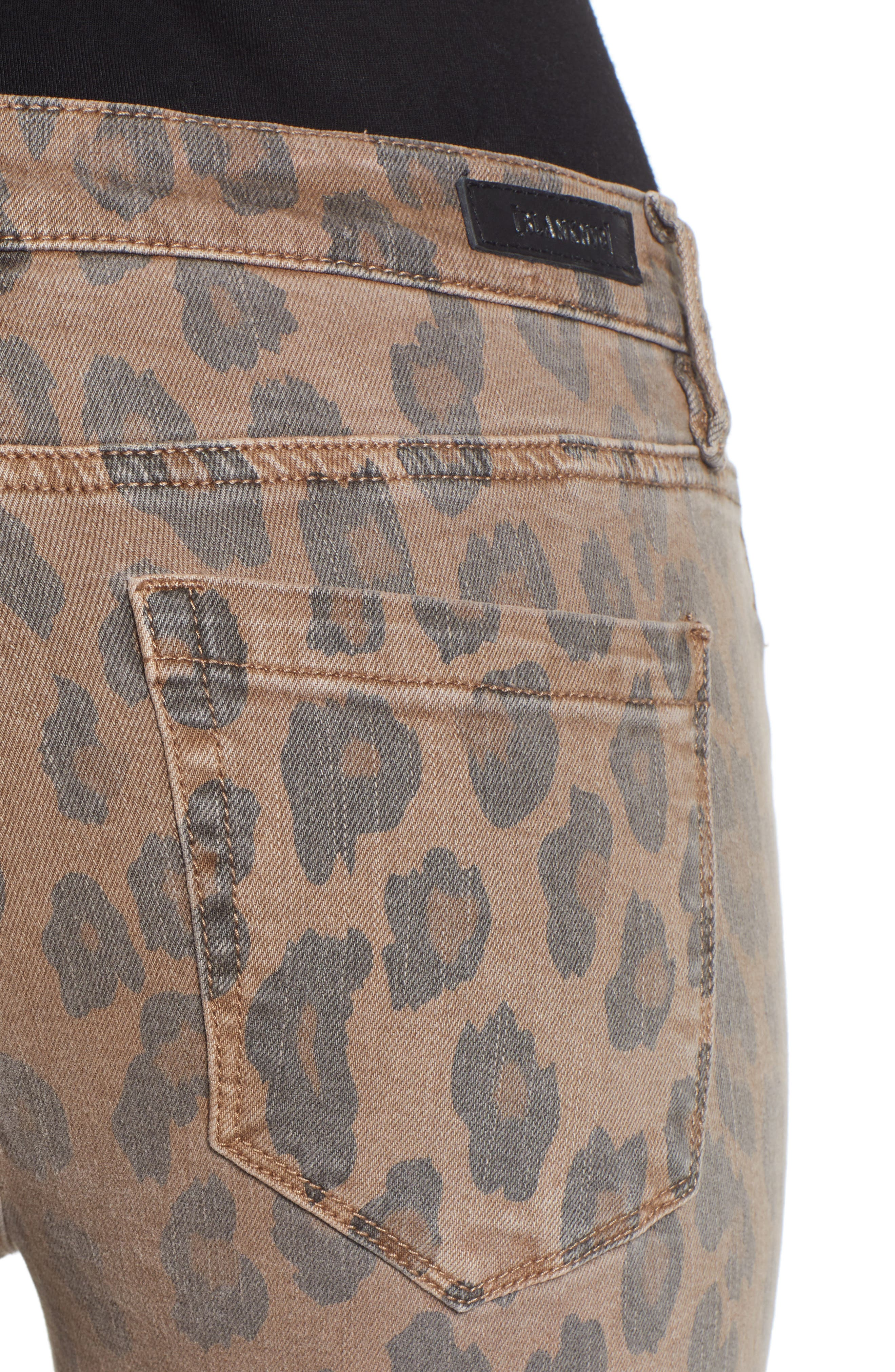 BLANKNYC, The Reade Leopard Crop Skinny Jeans, Alternate thumbnail 5, color, CATWALK