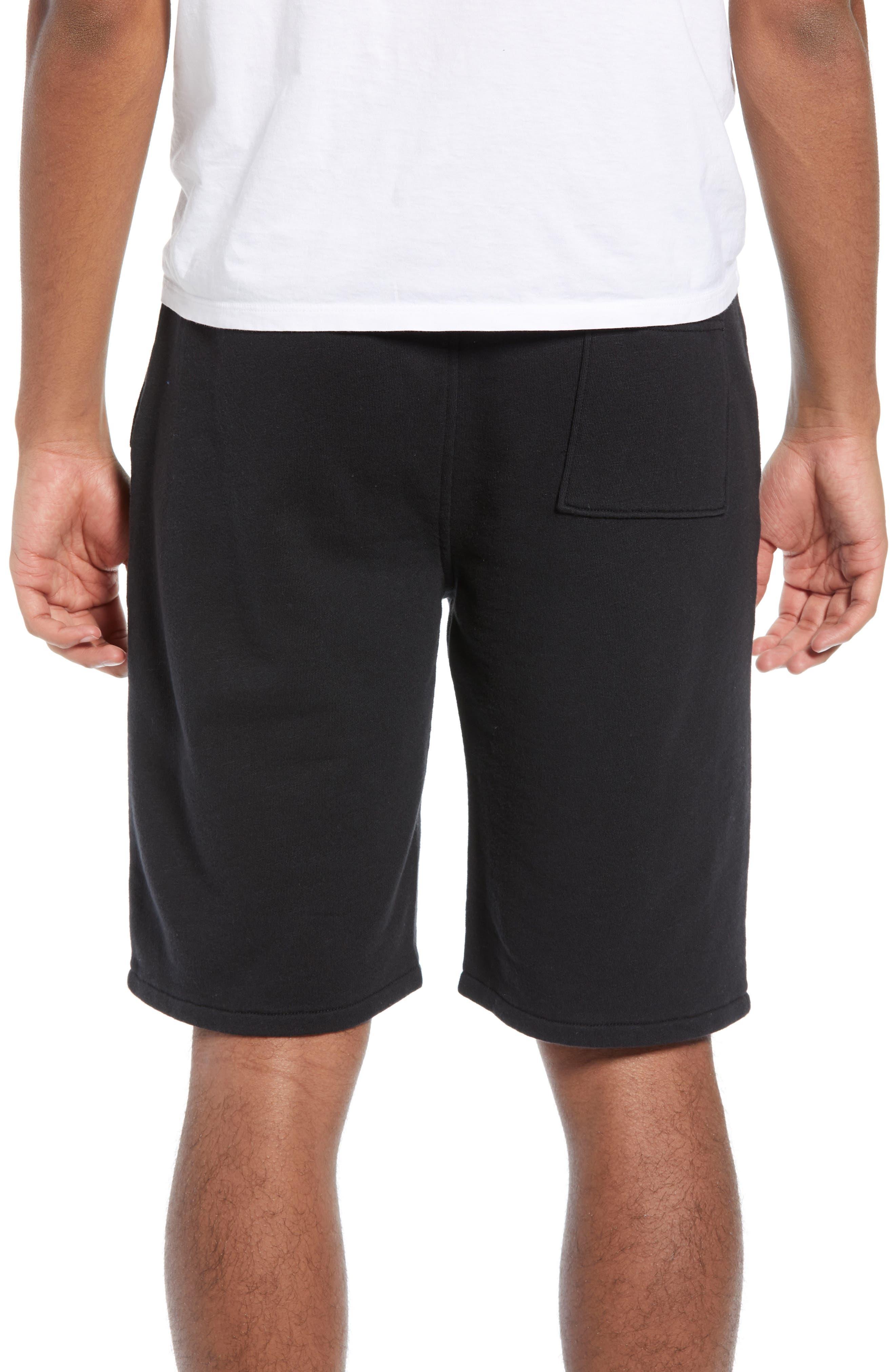 THE RAIL, Terry Athletic Shorts, Alternate thumbnail 2, color, BLACK ROCK