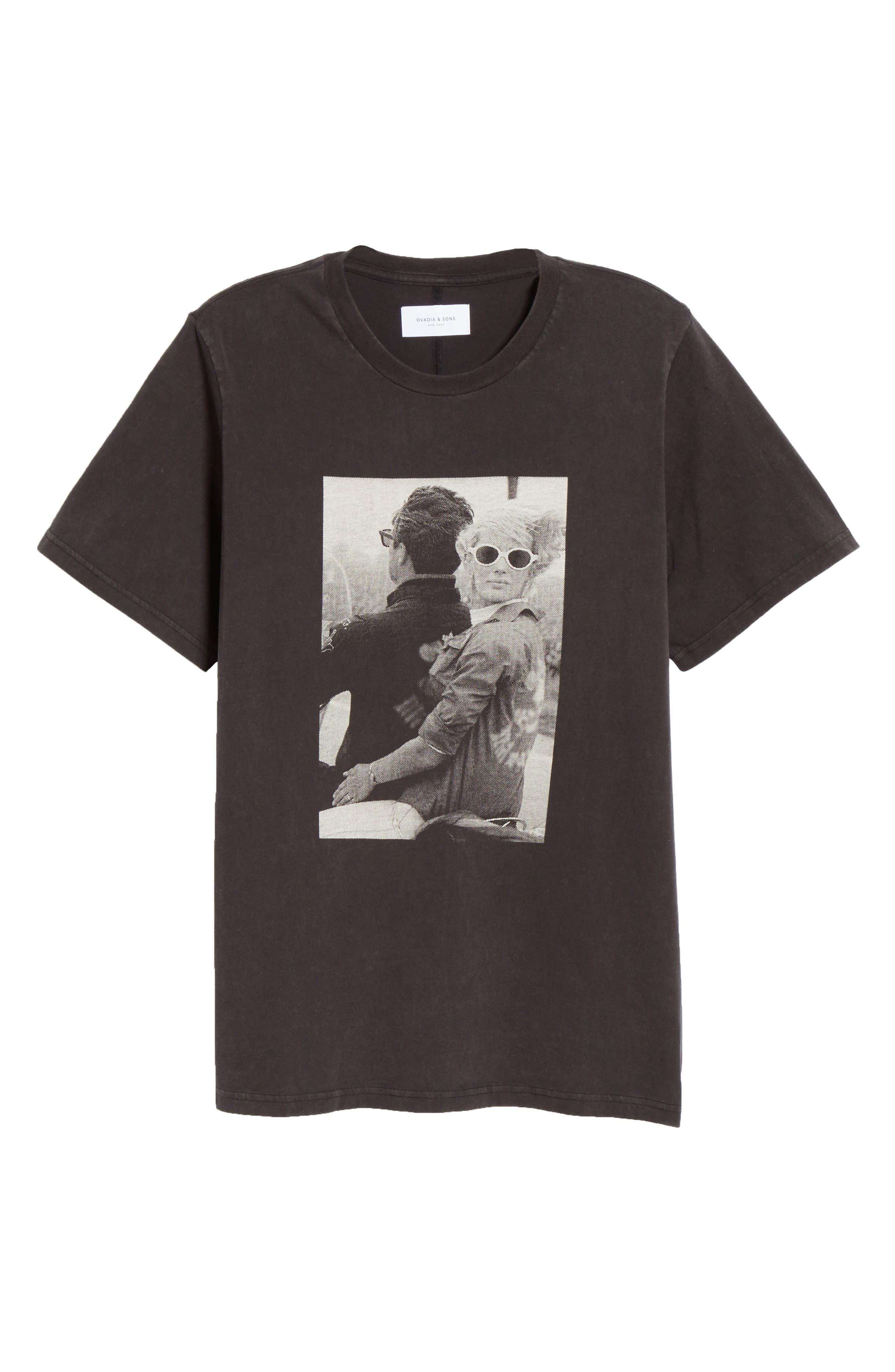 OVADIA & SONS, Bike Photo Graphic T-Shirt, Alternate thumbnail 6, color, BLACK