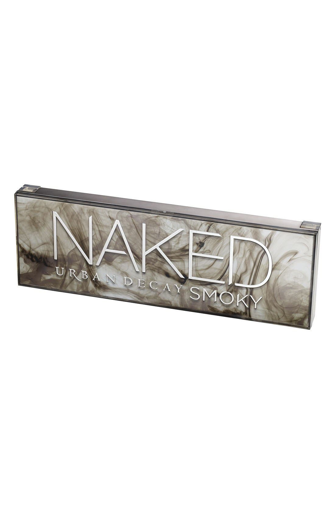 URBAN DECAY, 'Naked Smoky' Palette, Alternate thumbnail 3, color, 000