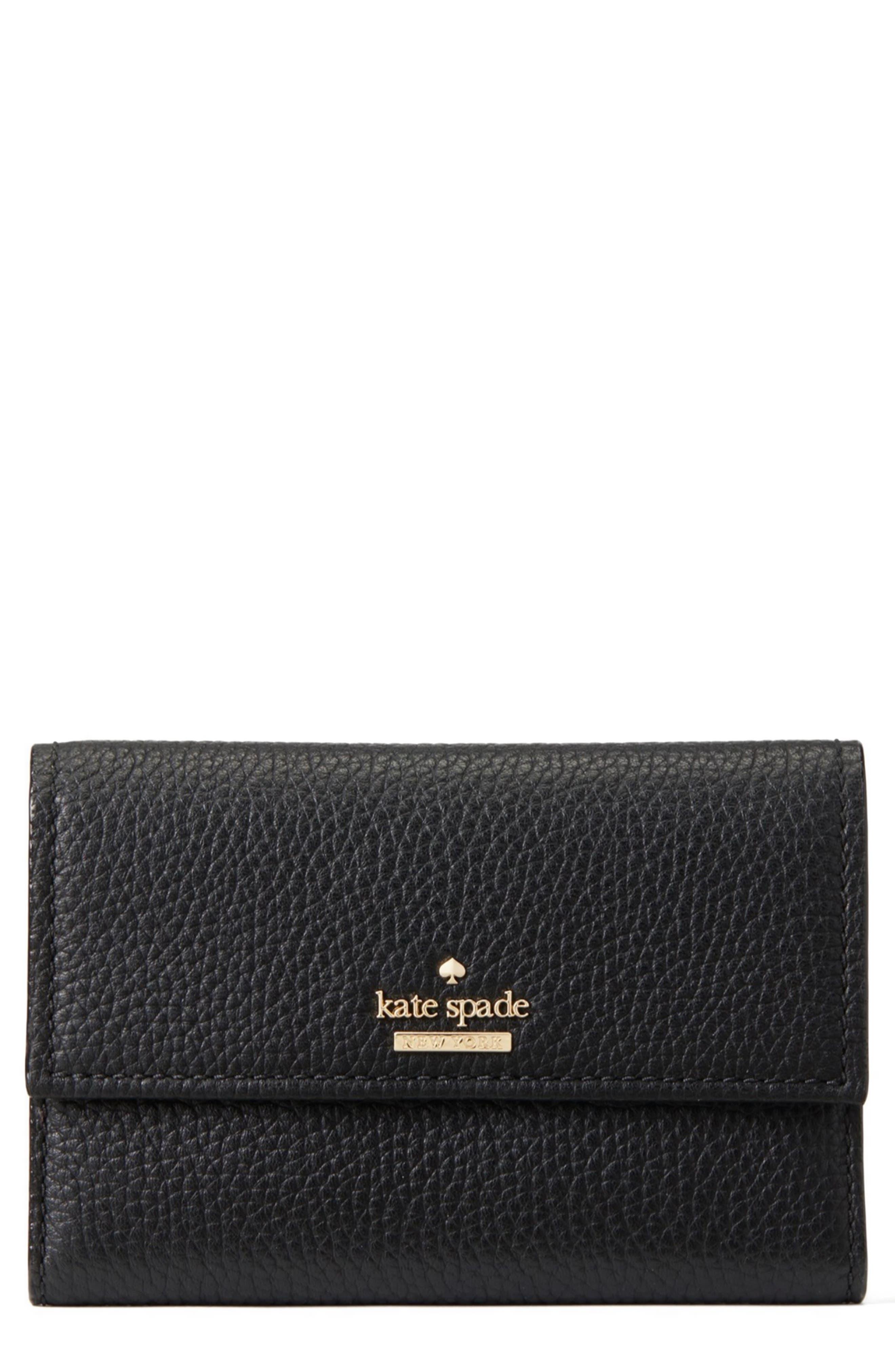 KATE SPADE NEW YORK, jackson street – meredith leather wallet, Main thumbnail 1, color, 001