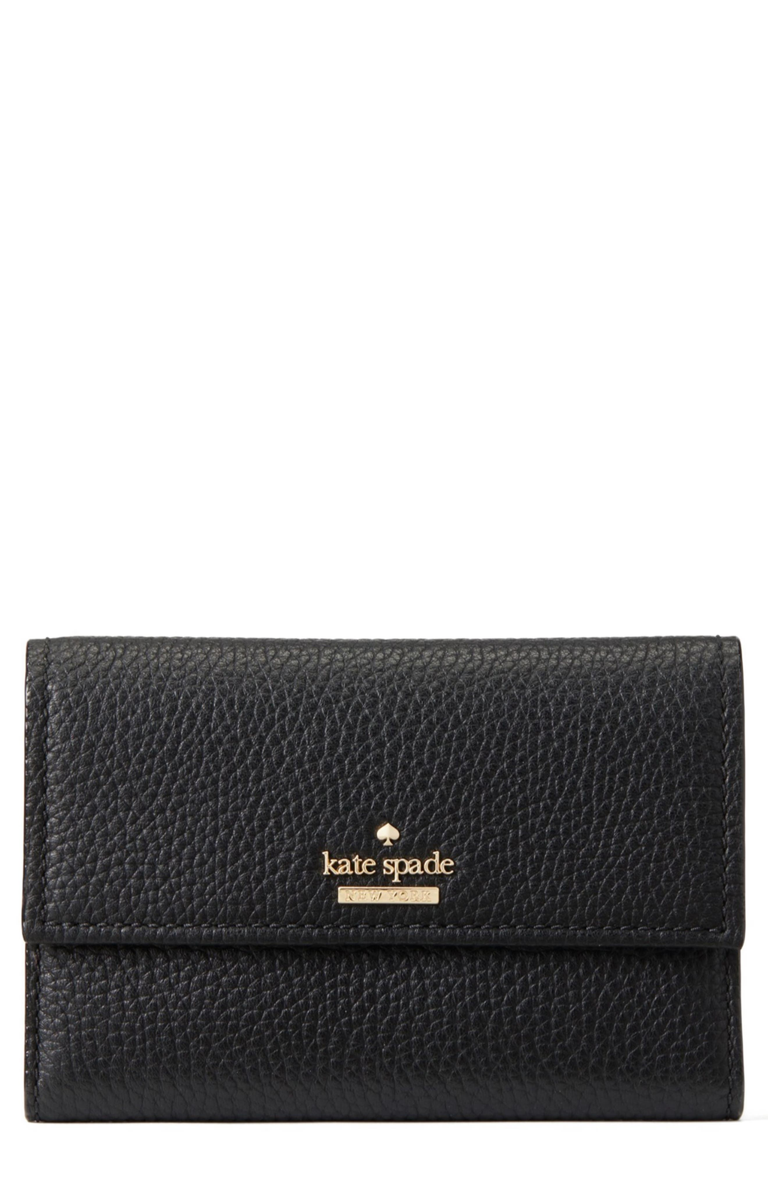 KATE SPADE NEW YORK jackson street – meredith leather wallet, Main, color, 001