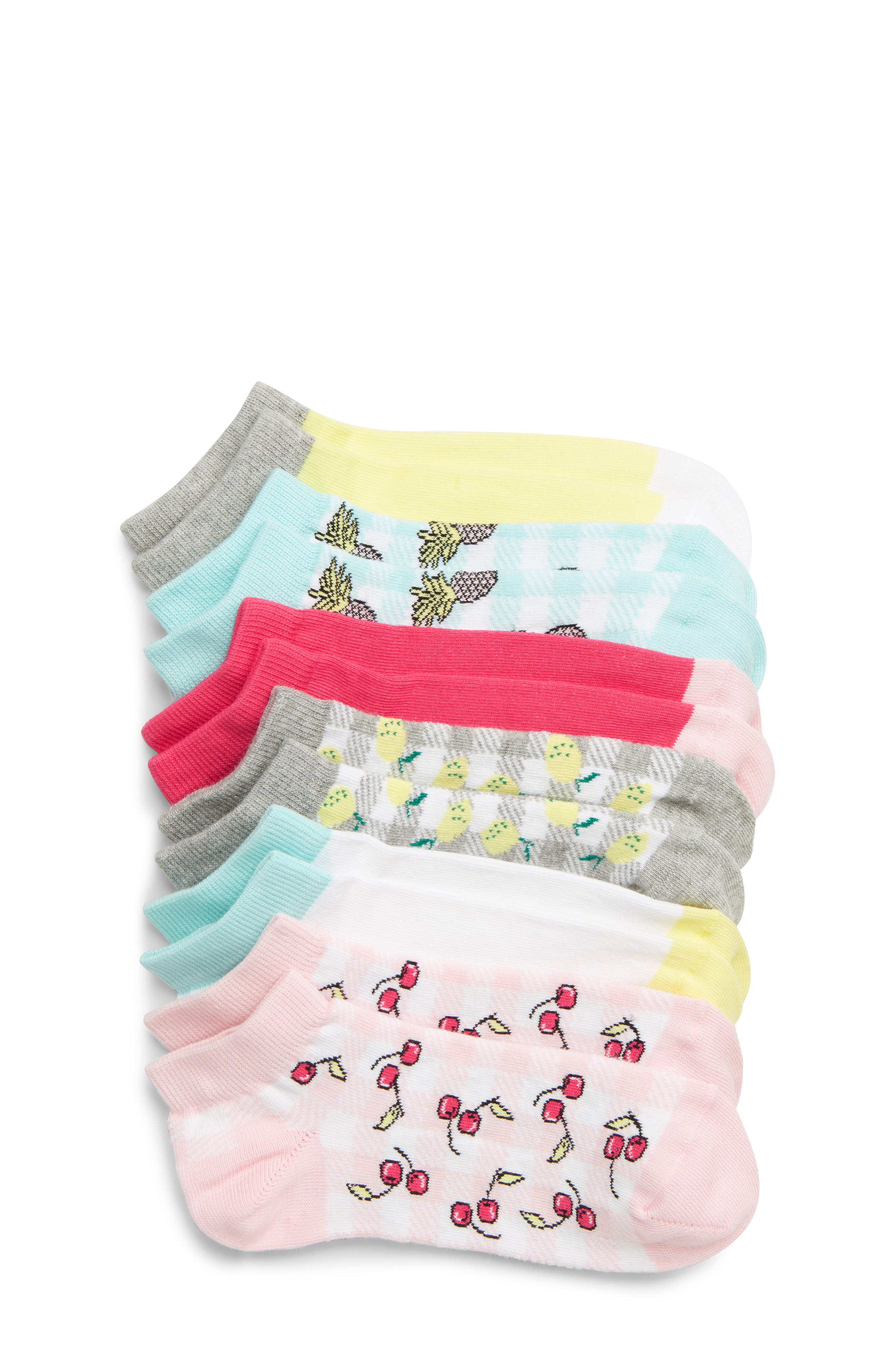 Toddler Girls Tucker  Tate 6Pack Ankle Socks Size 4585  Pink