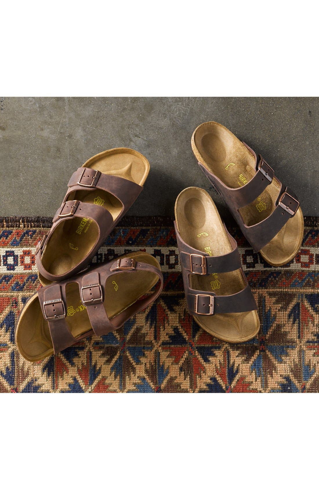 BIRKENSTOCK, 'Milano' Sandal, Alternate thumbnail 5, color, HABANA OILED
