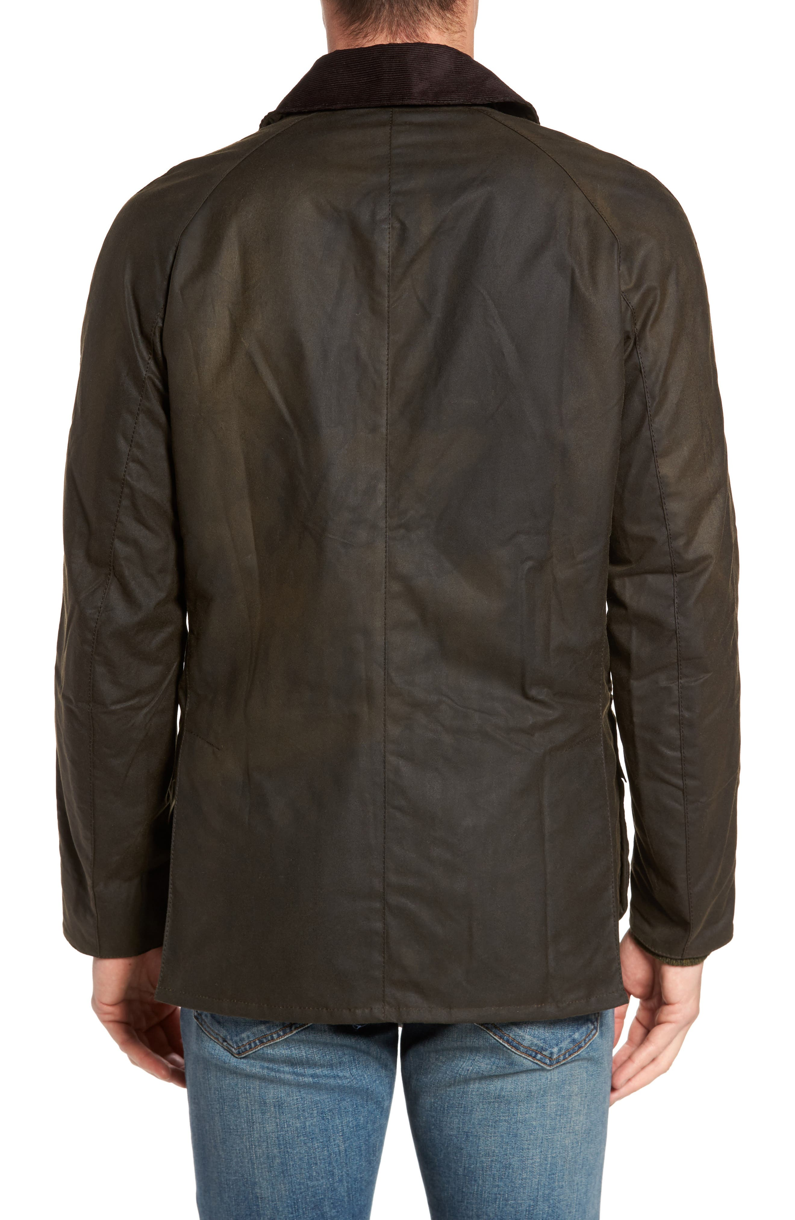 BARBOUR, Ashby Wax Jacket, Alternate thumbnail 2, color, OLIVE