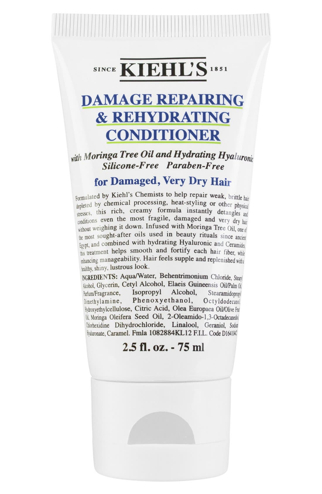 KIEHL'S SINCE 1851, Damage Repairing & Rehydrating Conditioner, Alternate thumbnail 3, color, NO COLOR