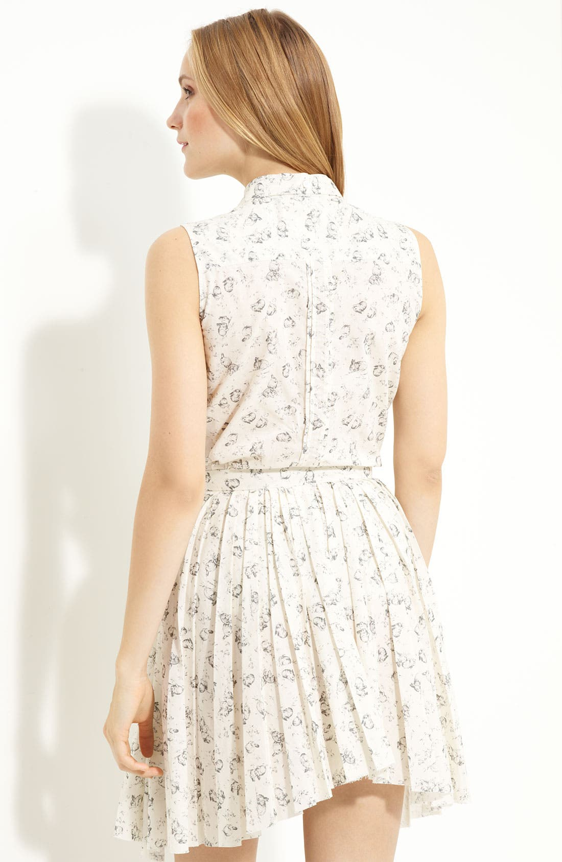BOY. BY BAND OF OUTSIDERS, Band of Outsiders Rabbit Print Sleeveless Top, Alternate thumbnail 3, color, 110