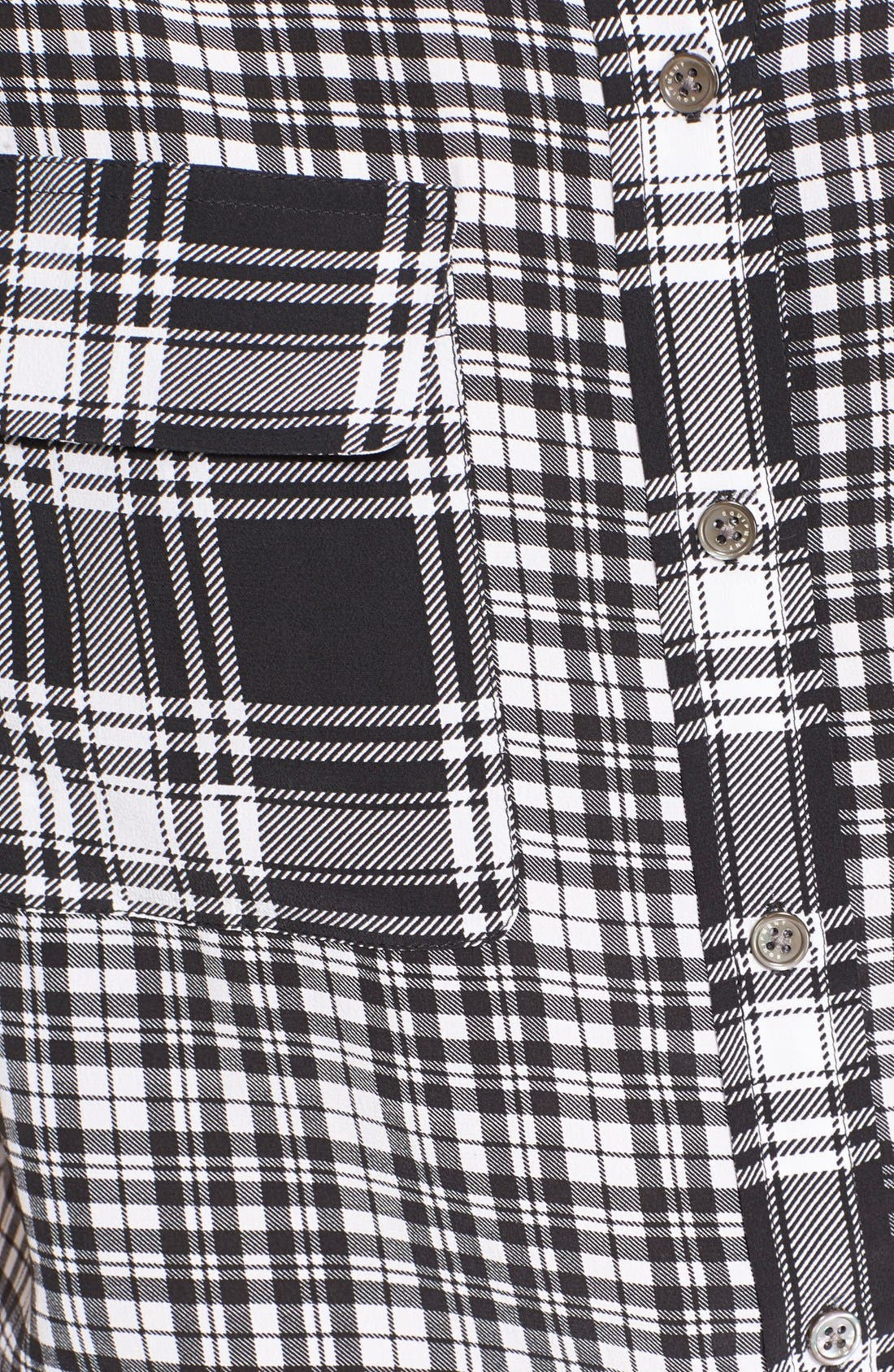 EQUIPMENT, 'Signature' Plaid Print Silk Shirt, Alternate thumbnail 2, color, 002