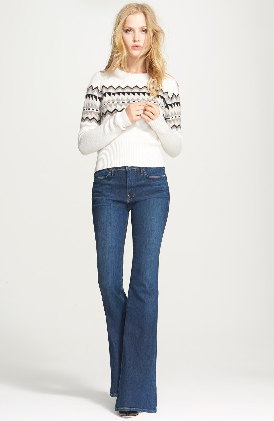 FRAME, Denim 'Le High Flare' Flare Leg Jeans, Alternate thumbnail 2, color, 401