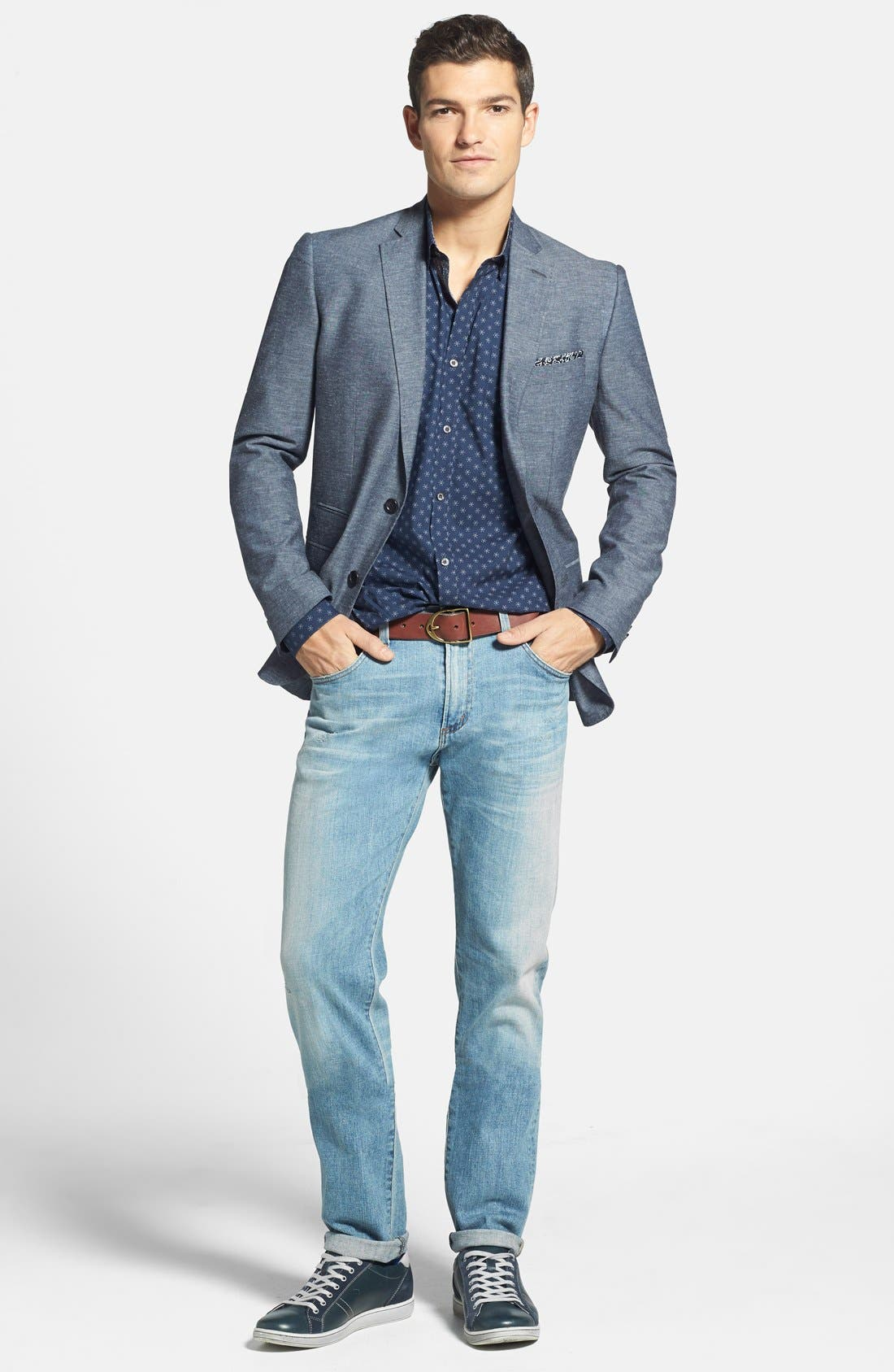 CITIZENS OF HUMANITY, 'Core' Slim Straight Leg Jeans, Alternate thumbnail 5, color, 458