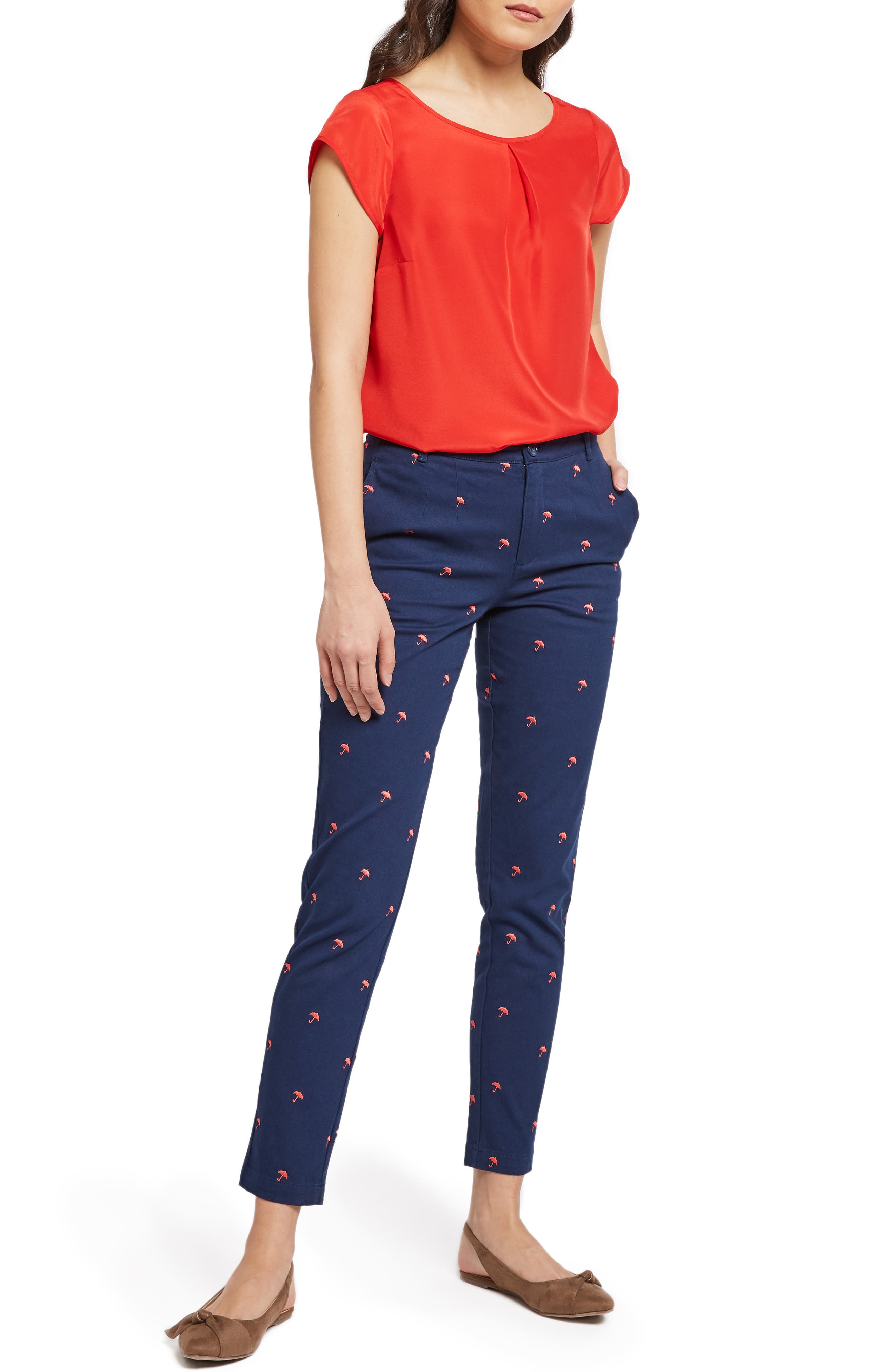 MODCLOTH, Graceful Expectations Top, Alternate thumbnail 6, color, RED SOLID